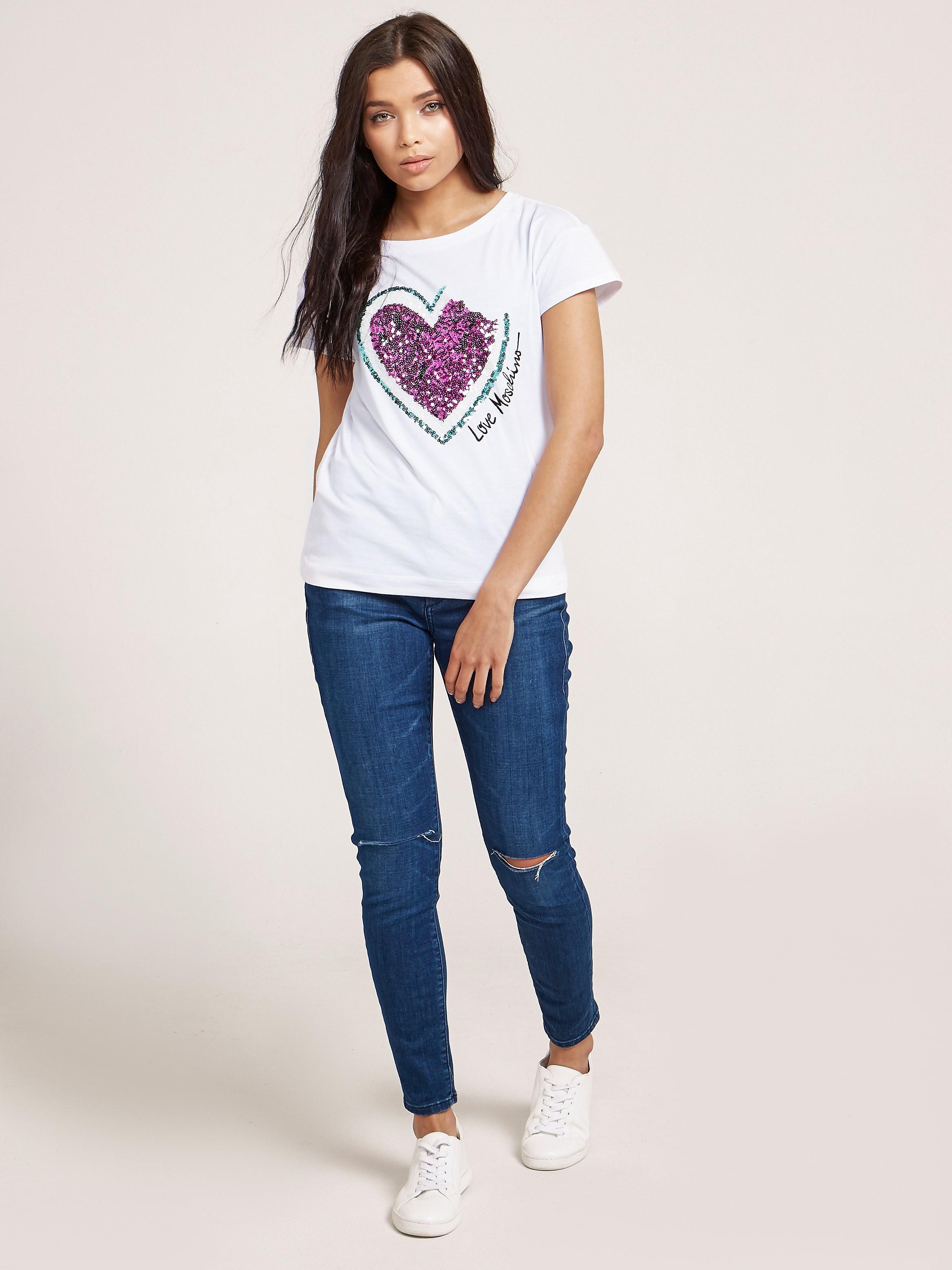 Love Moschino Watermelon Sequin T-Shirt