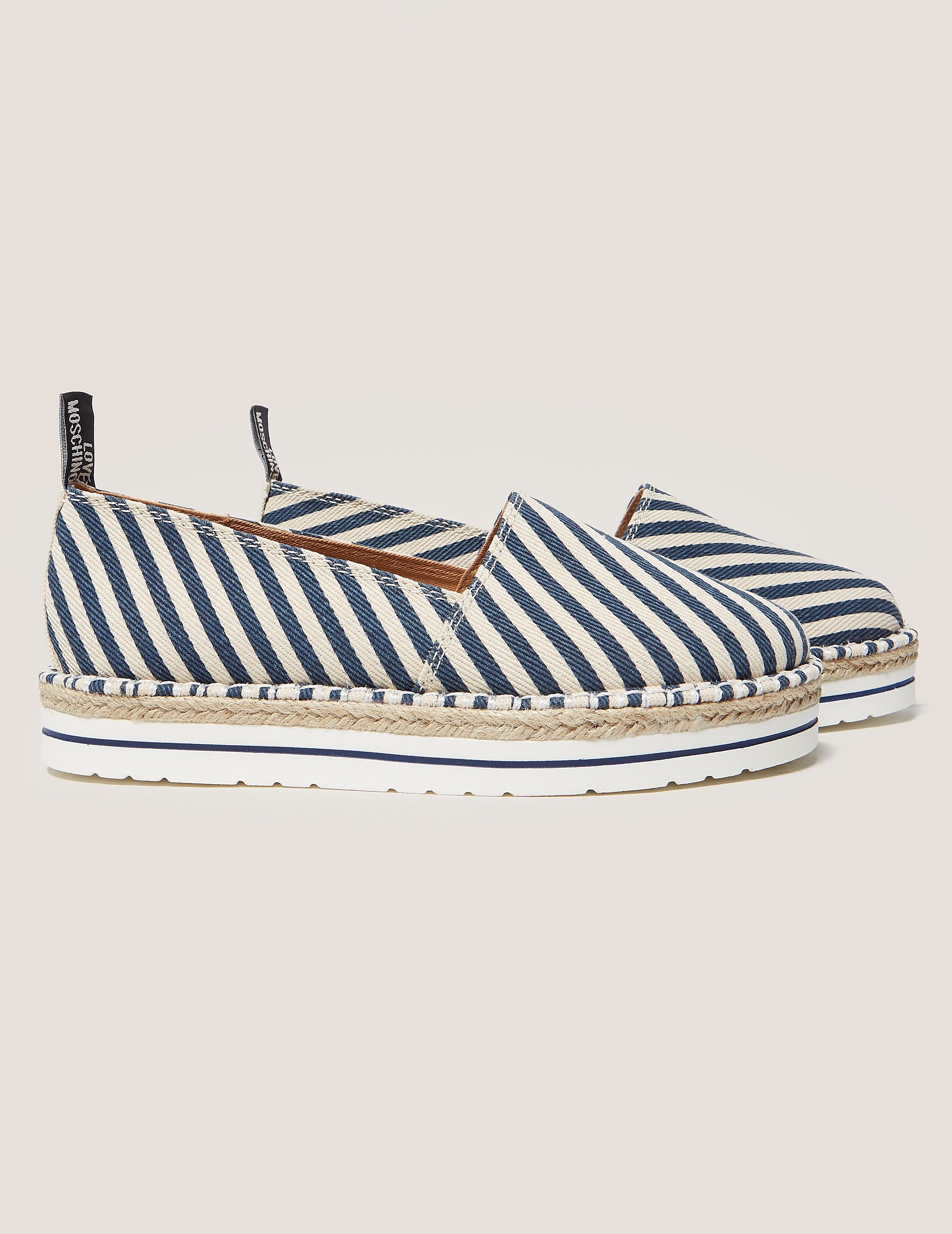 Love Moschino Stripe Espadrille