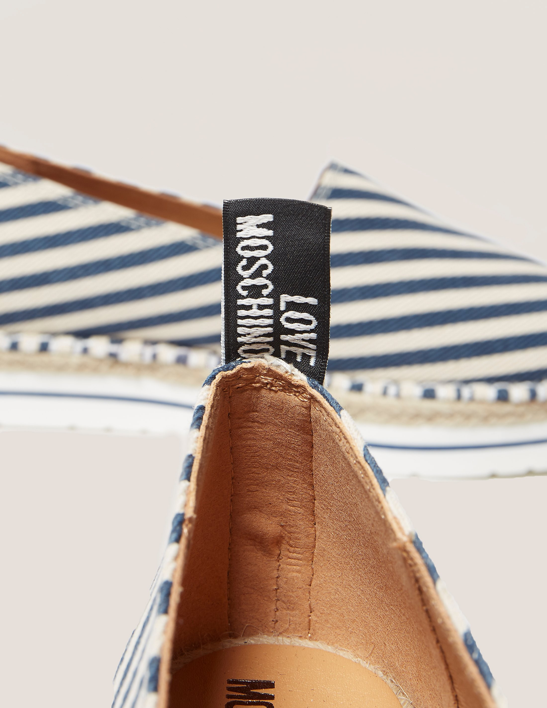 Love Moschino Stripe Espadrille