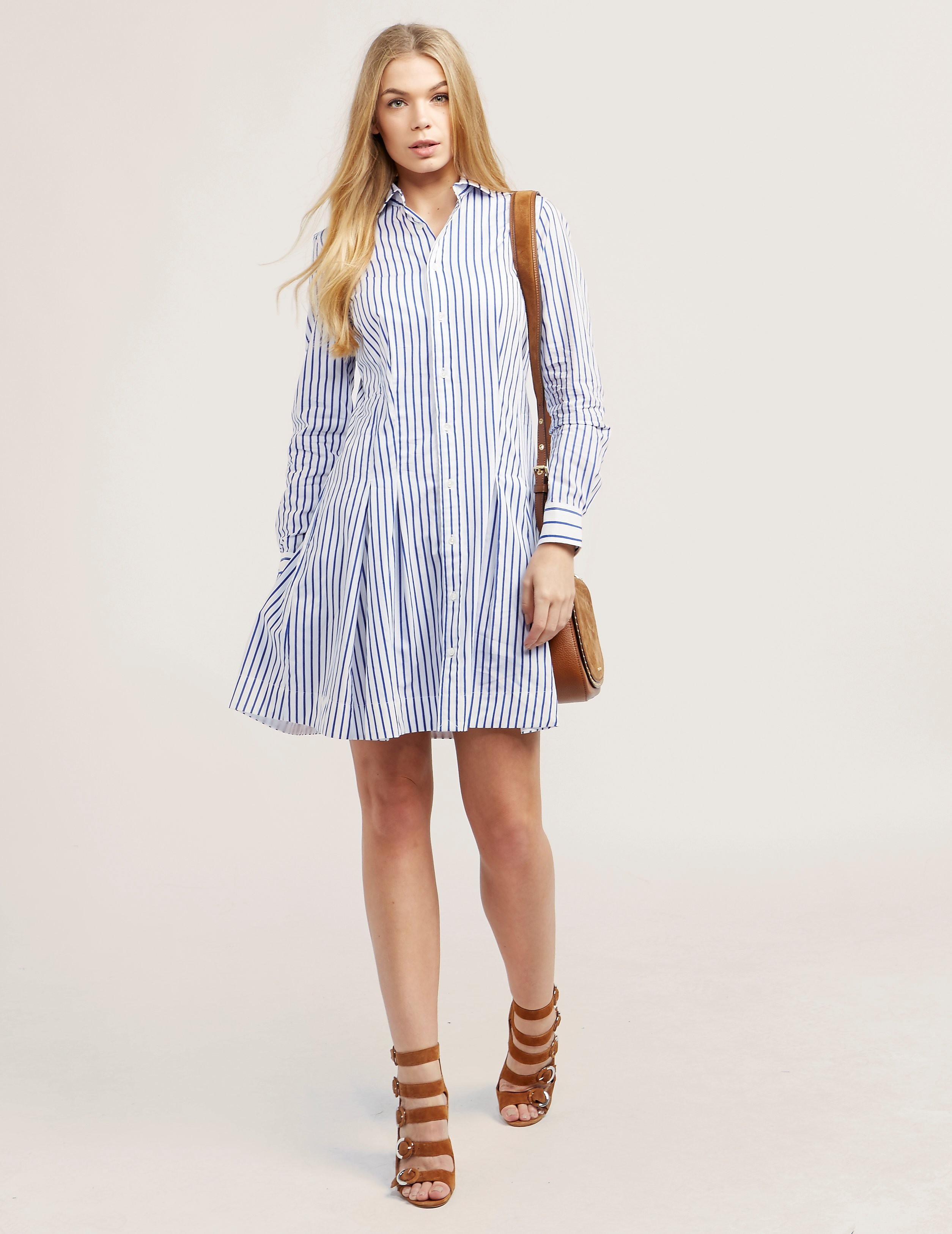 Polo Ralph Lauren Pleated Poplin Dress