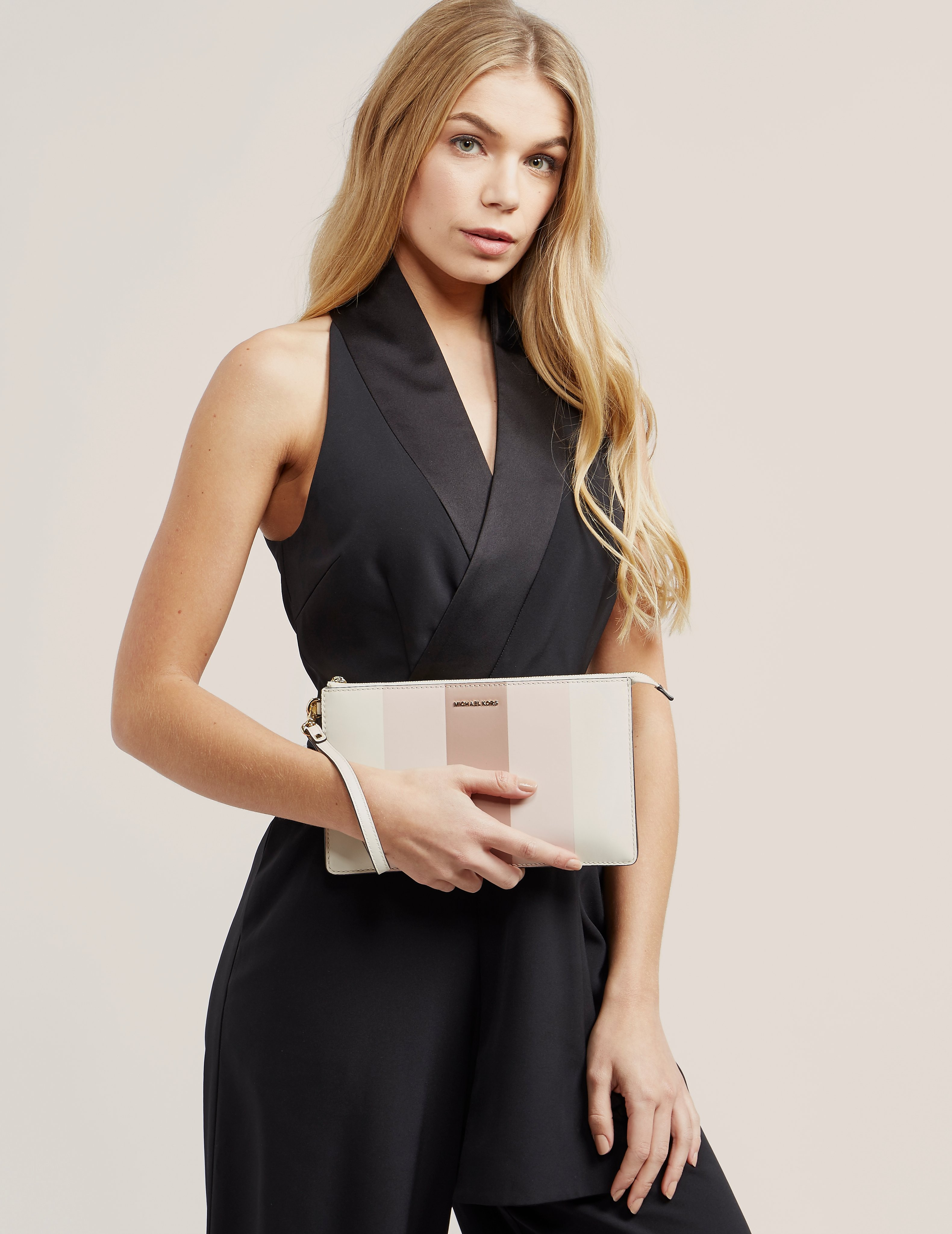 Michael Kors Daniela Multi Stripe Large Wristlet