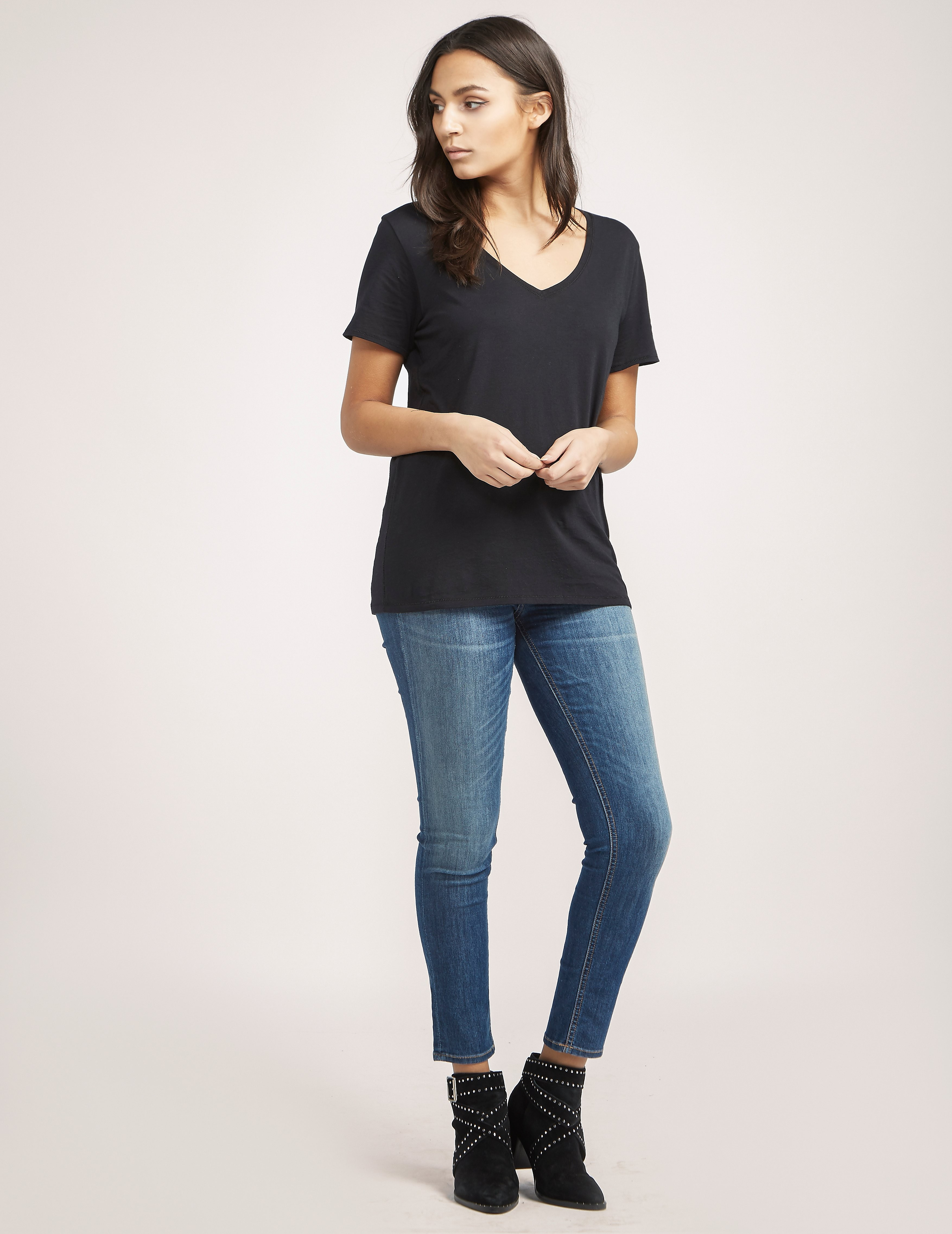 Rag & Bone V-Neck Short Sleeve T-Shirt