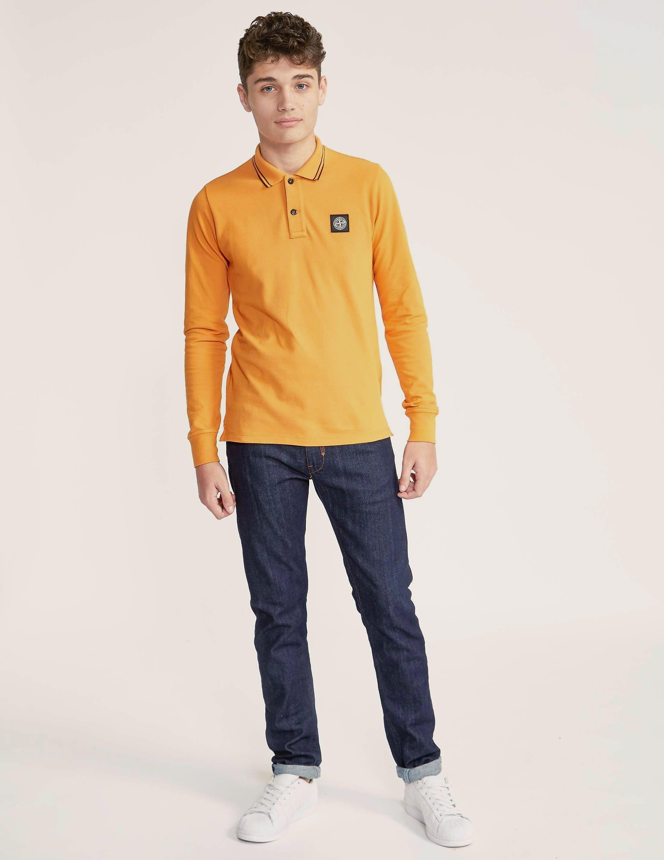 Stone Island Kids' Long Sleeve Polo Shirt