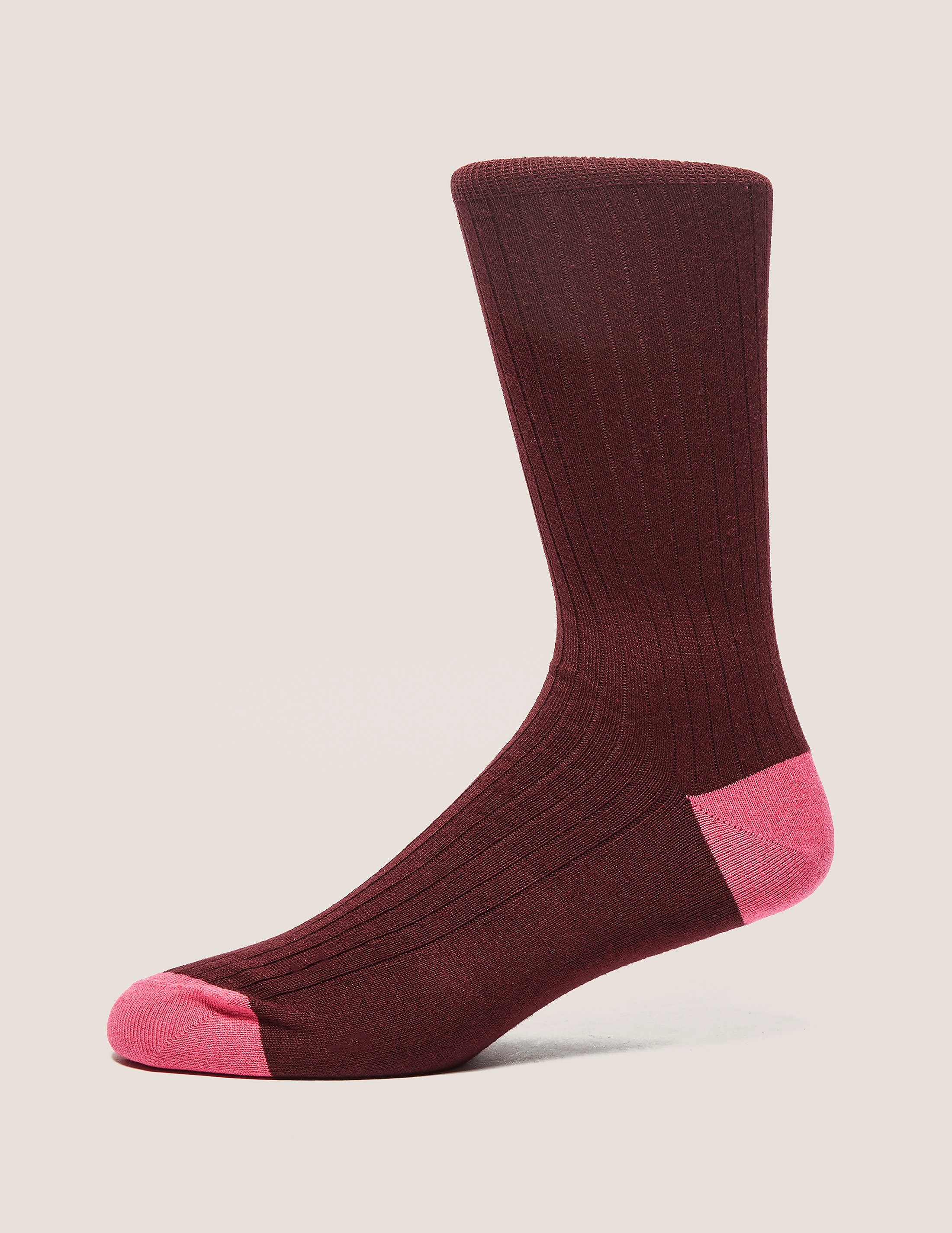 Paul Smith Two-Tone Ribbed Socks