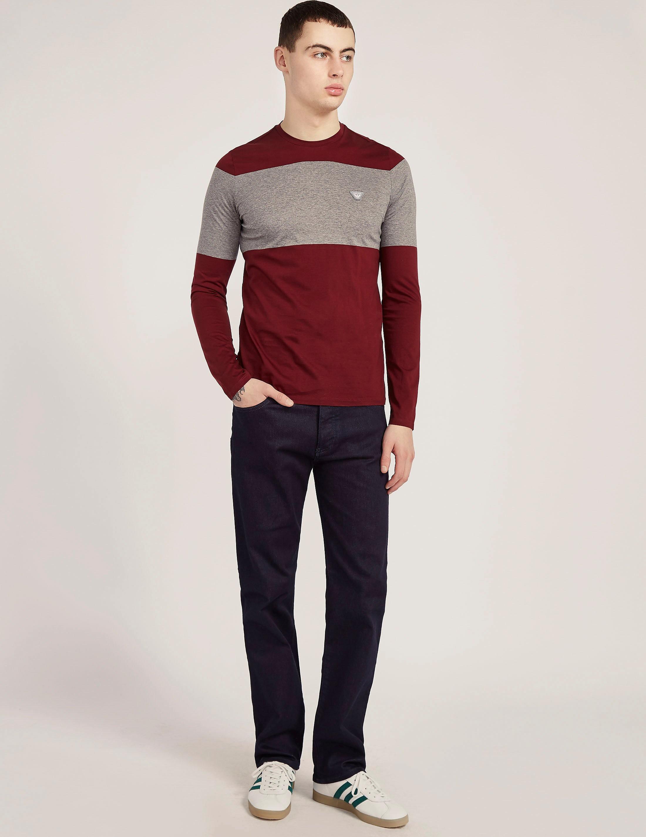 Armani Jeans Blocks Long Sleeve T-Shirt