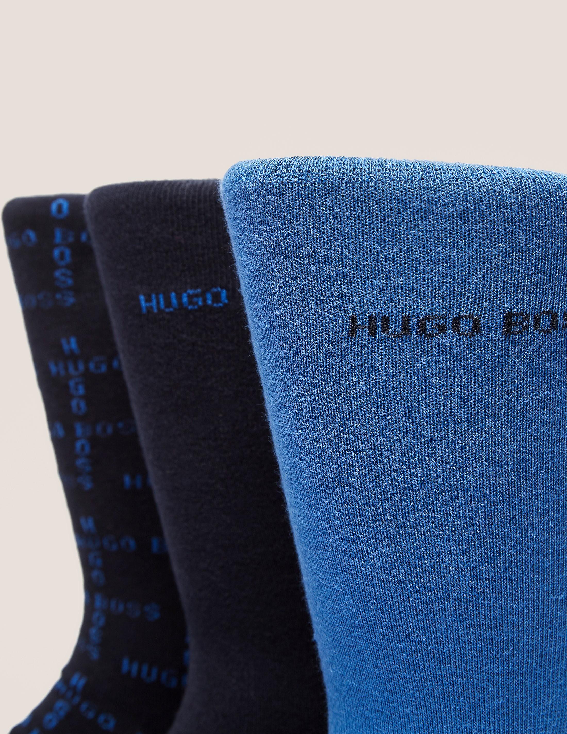 BOSS 3 Pack Plain Socks