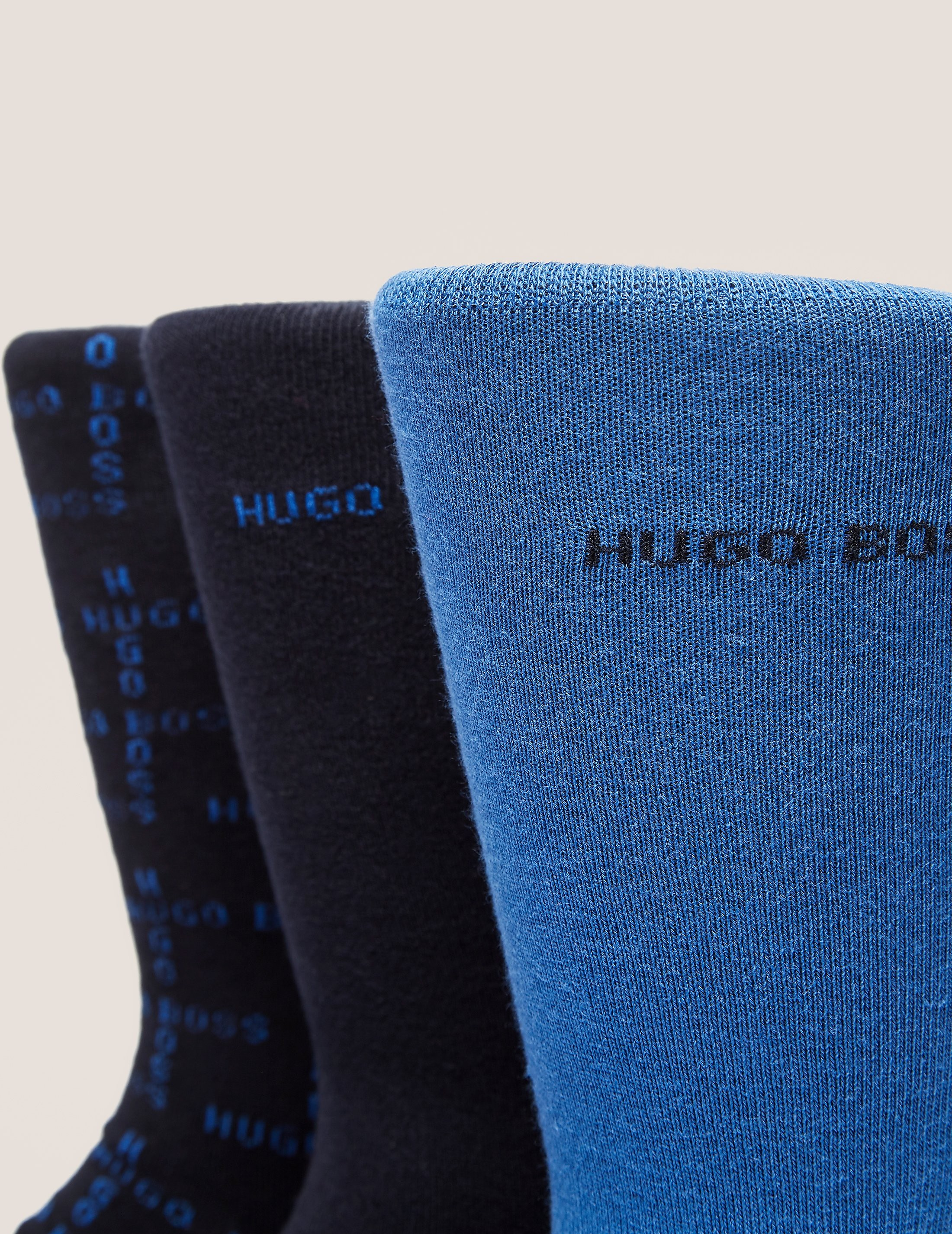 BOSS 3 Pack Plain Socks
