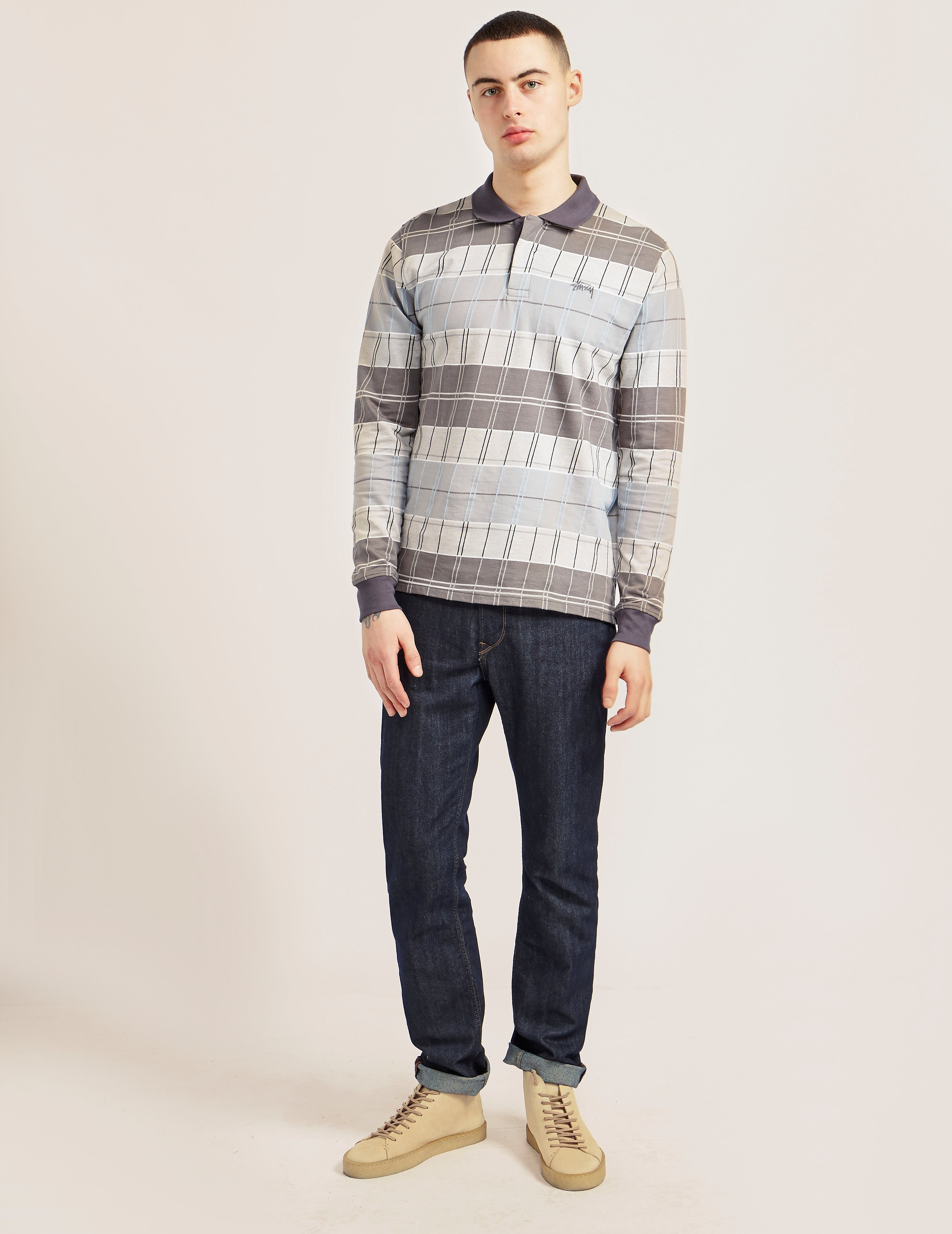 Stussy Plaid Long Sleeve Polo