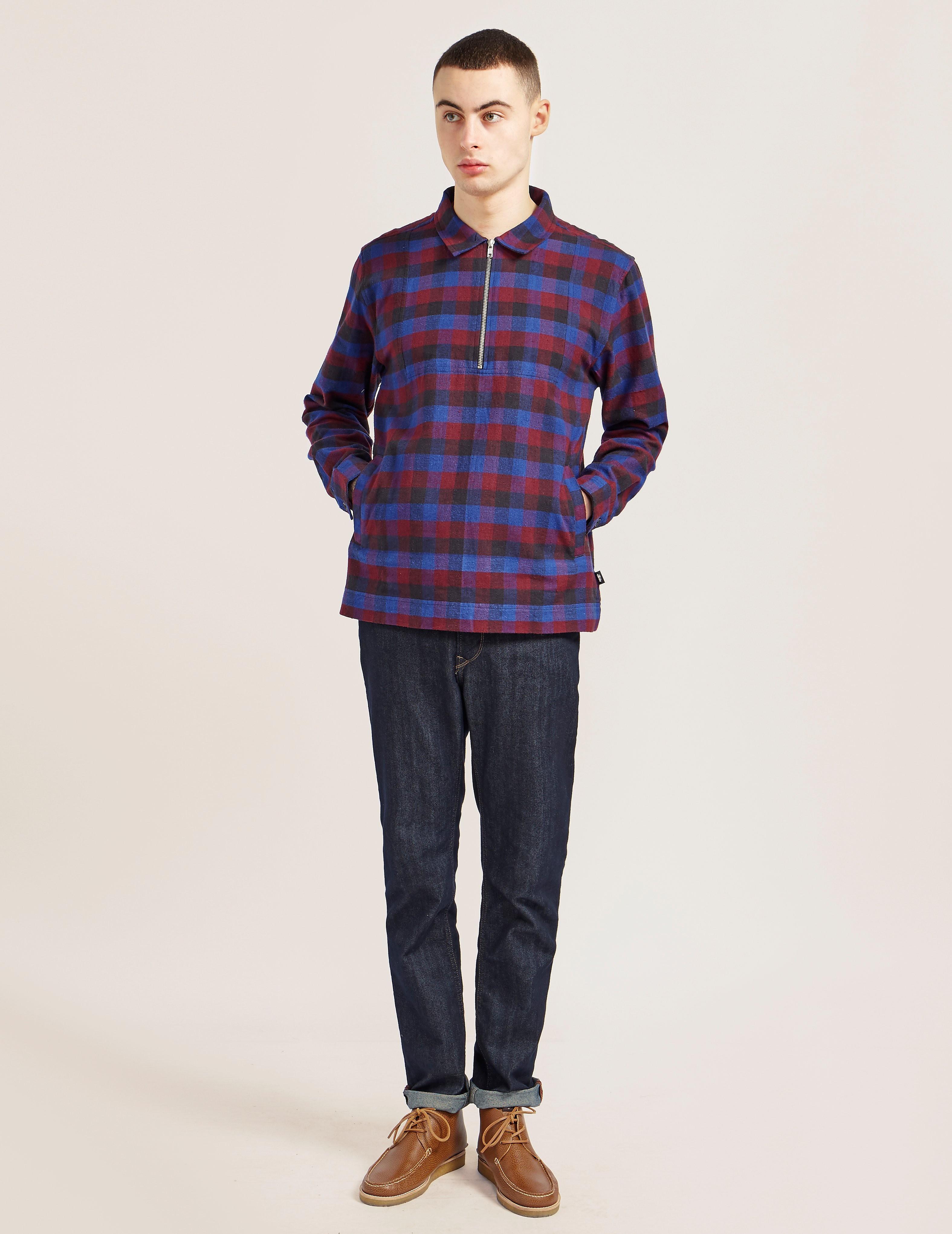 Stussy Half Zip Checkered Shirt