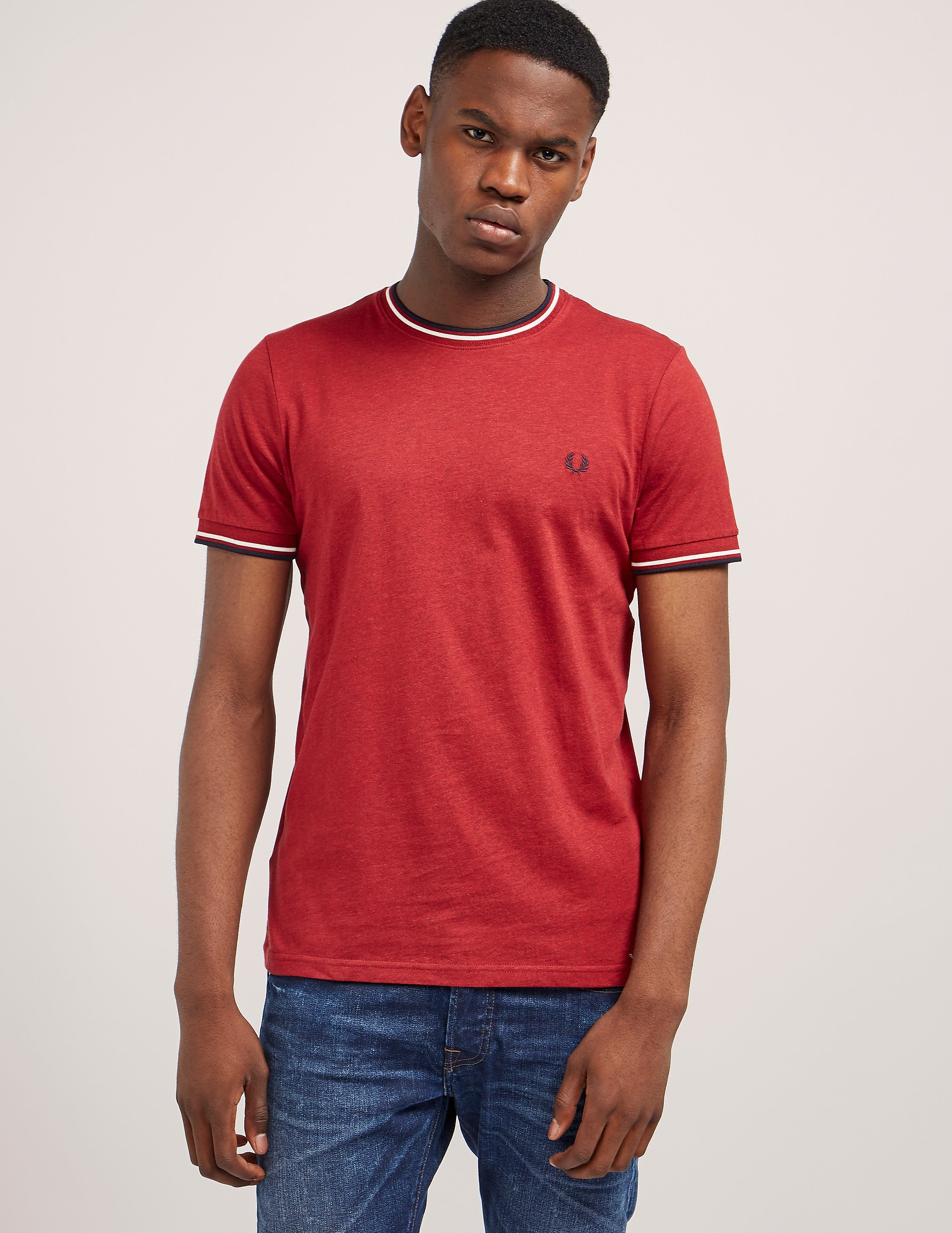Fred Perry Tip Ringer Short Sleeve T-Shirt