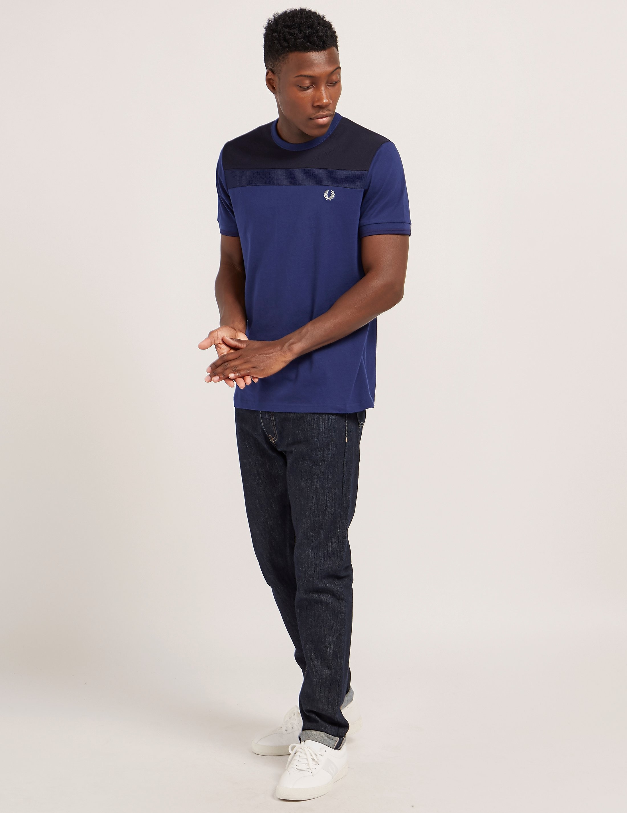 Fred Perry Textured Panel Short Sleeve T-Shirt