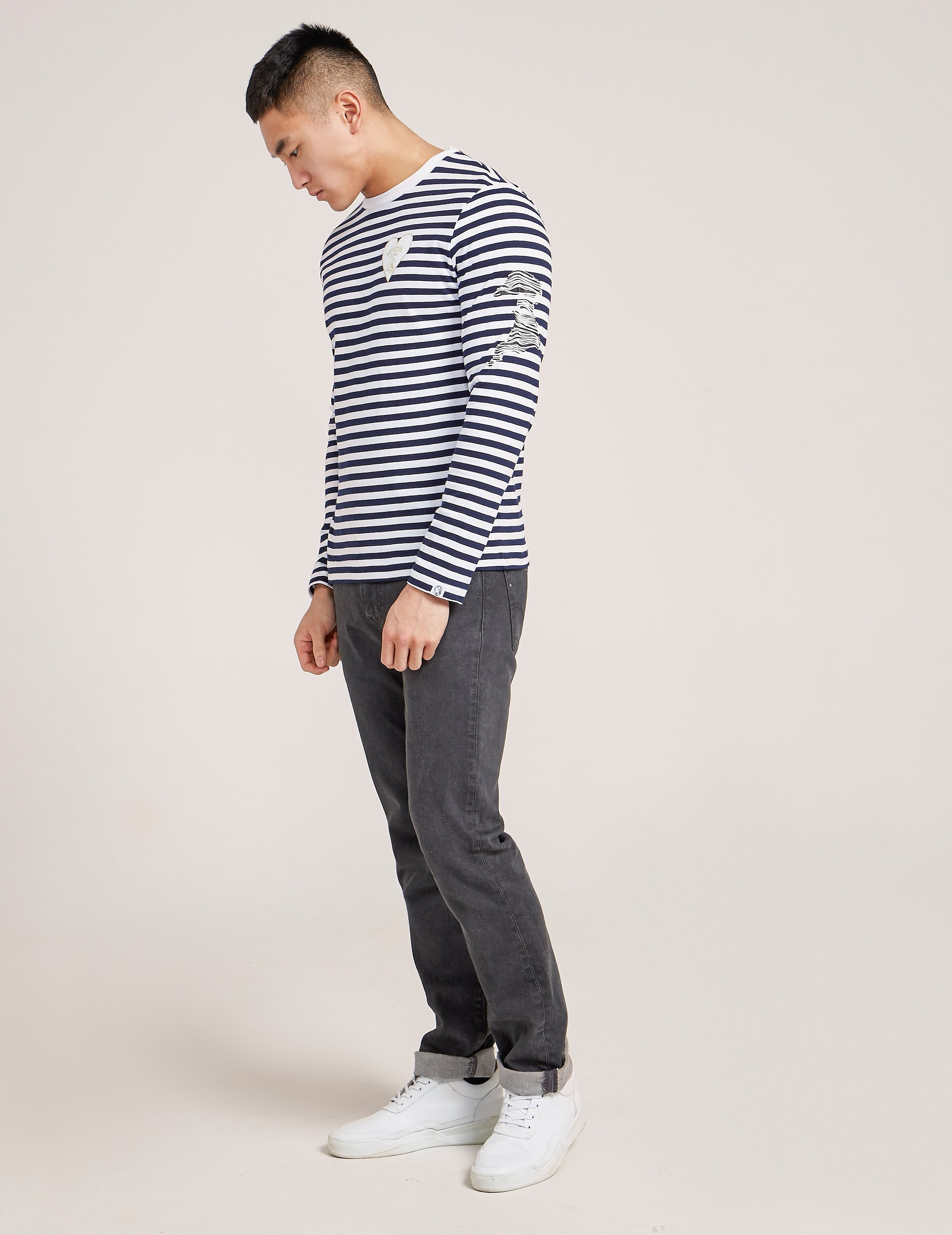 Billionaire Boys Club Damage Stripe Long Sleeve T-Shirt