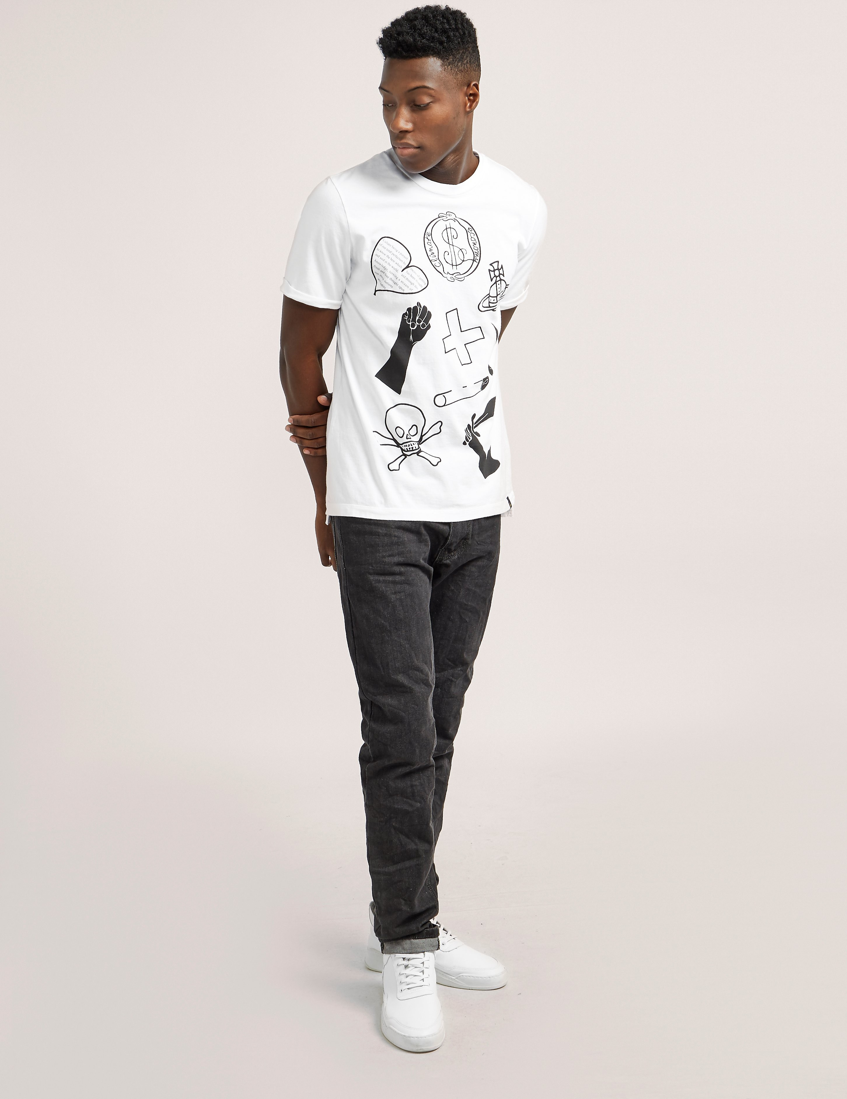Vivienne Westwood Anglomania Symbols Short Sleeve T-Shirt