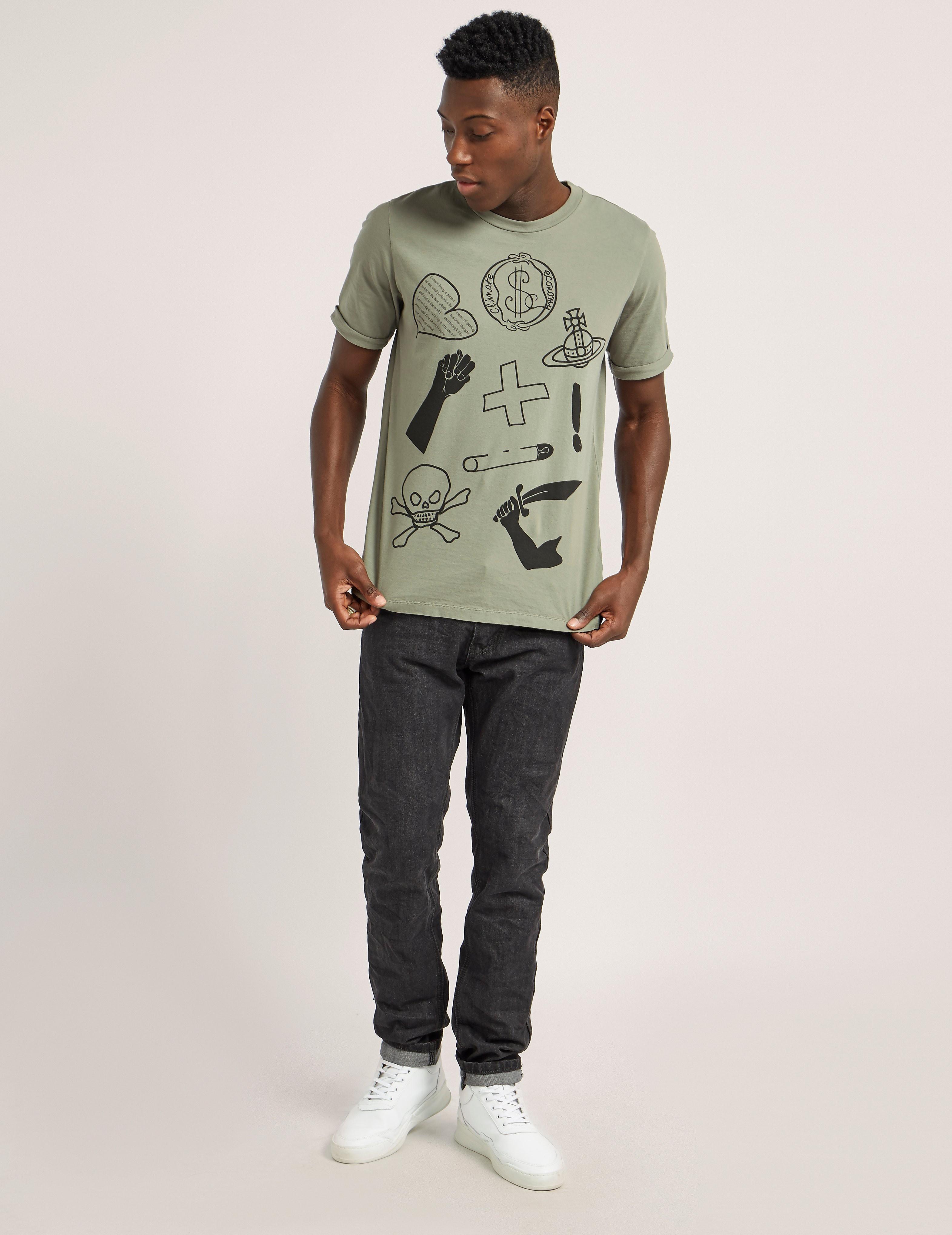 Vivienne Westwood Anglomania Symbols Short Sleeve T-Shirt