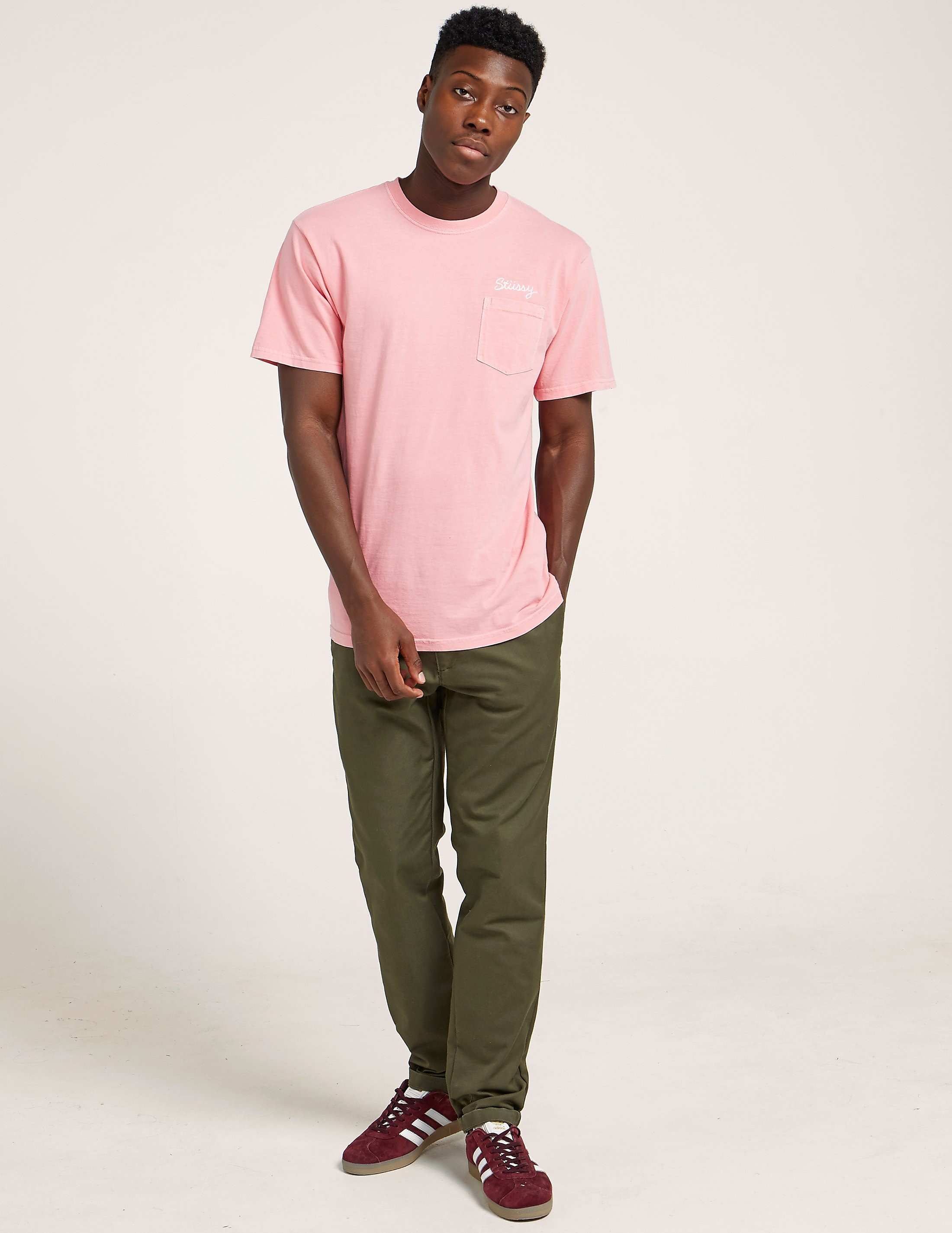 Stussy Stitch Dye Pocket Short Sleeve T-Shirt