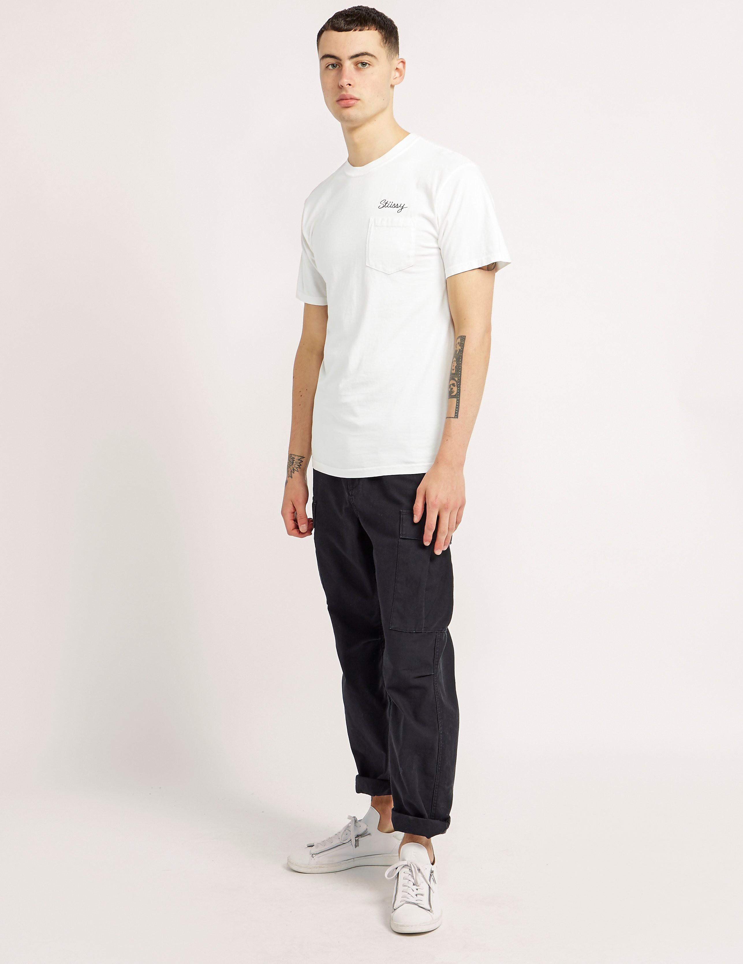 Stussy Stitch Dye Pocket Short Sleeve T-Shirt