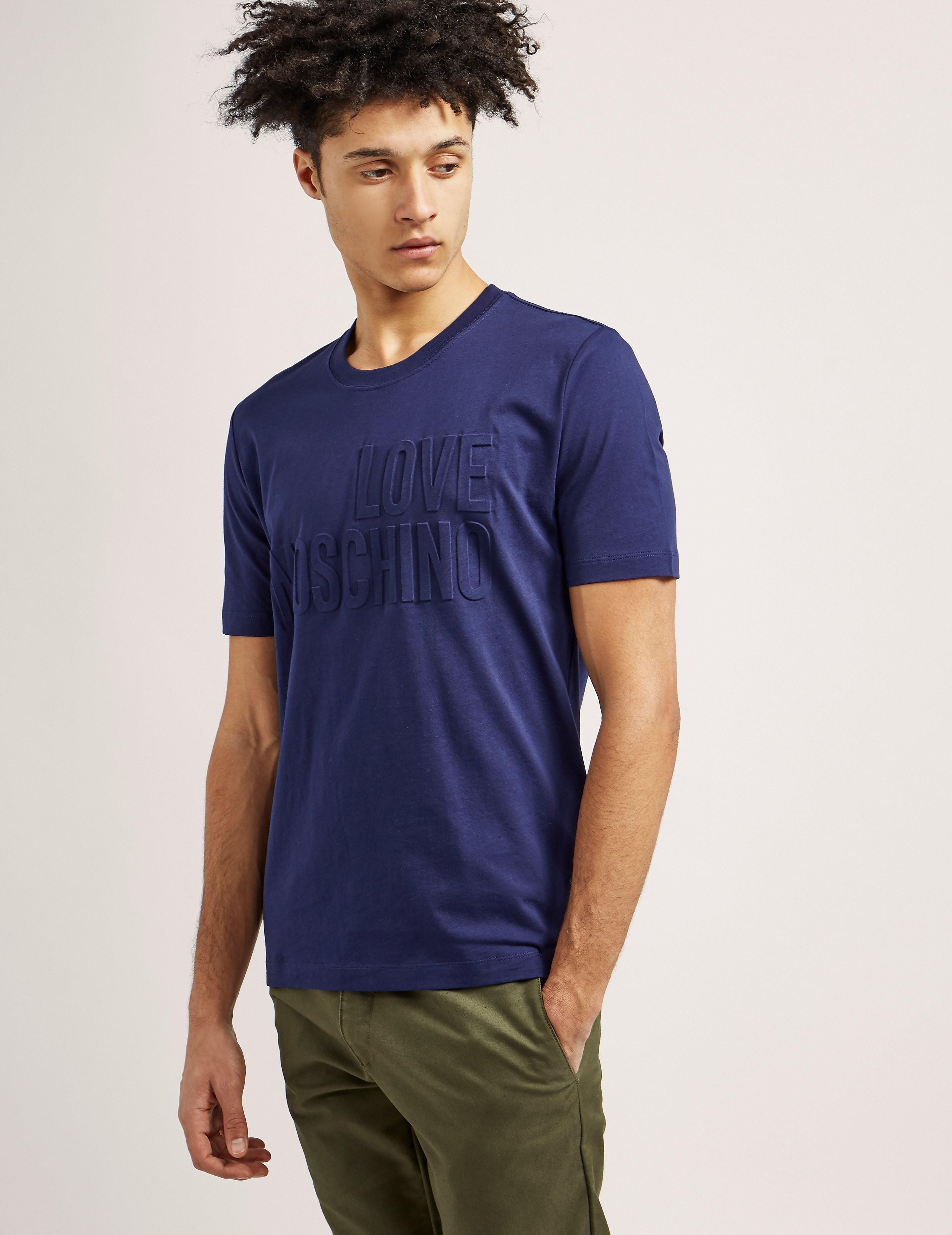 Love Moschino Embossed Short Sleeve T-Shirt