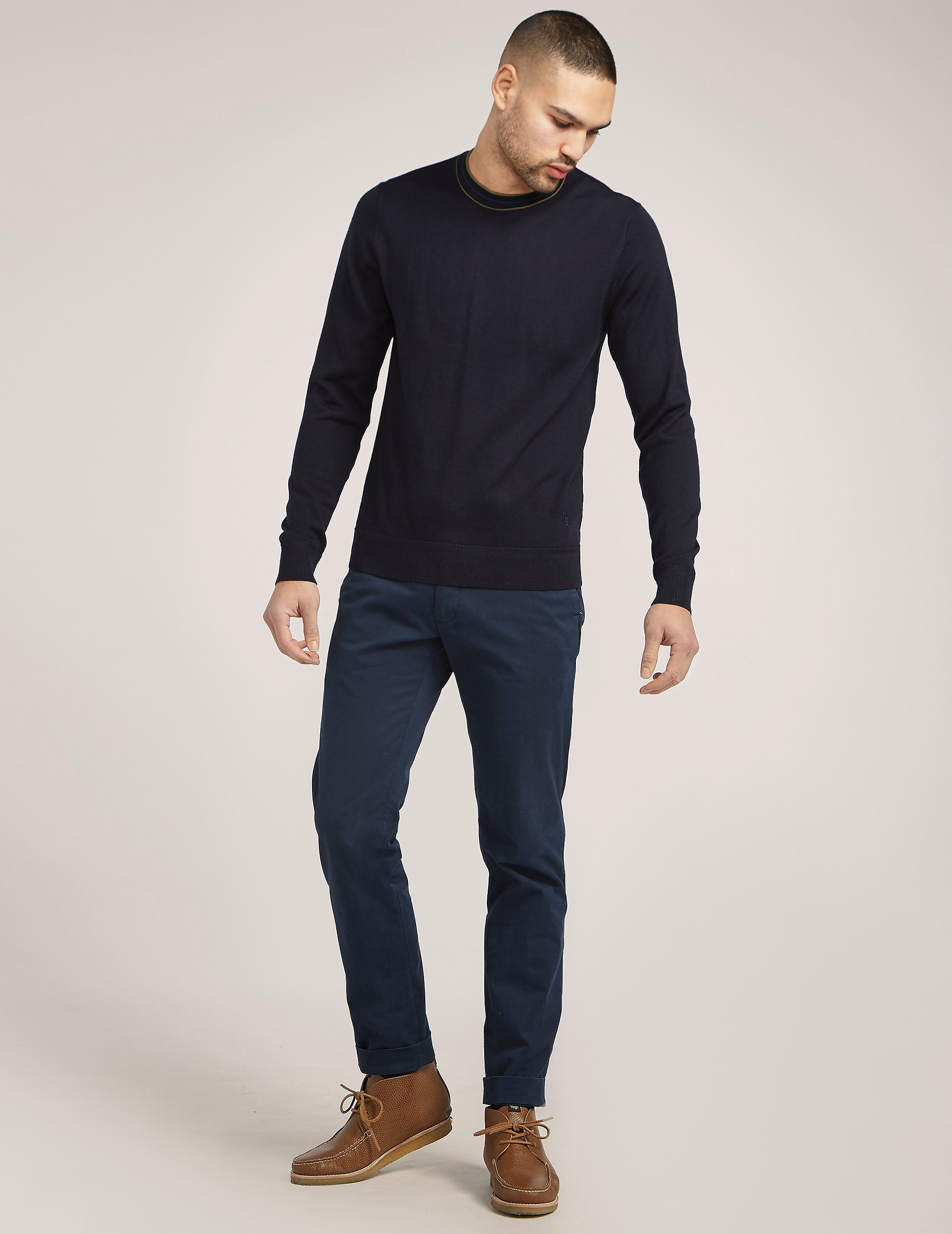 Paul Smith Contrast Collar Wool Knit