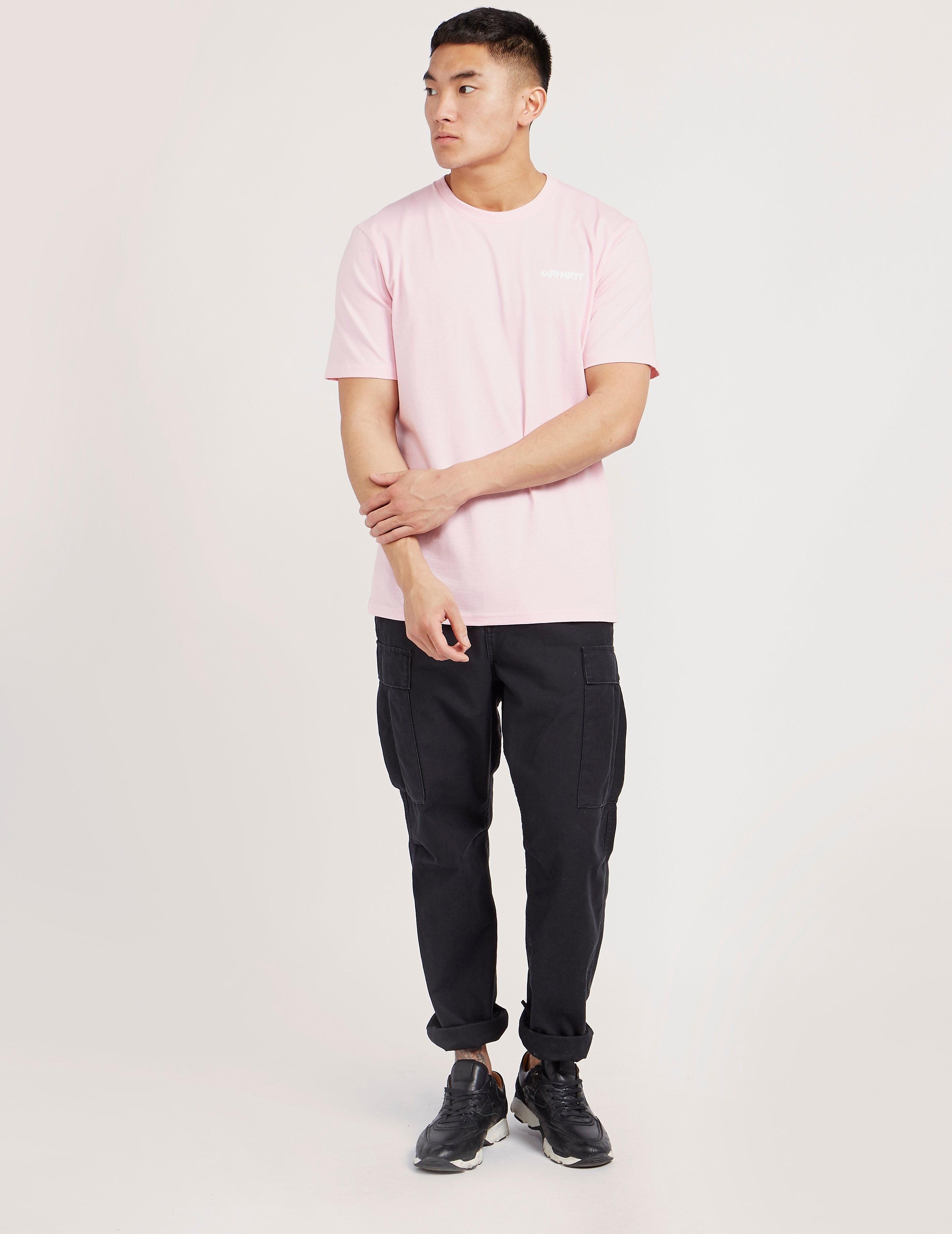 Carhartt WIP Flamingo Script Short Sleeve T-Shirt