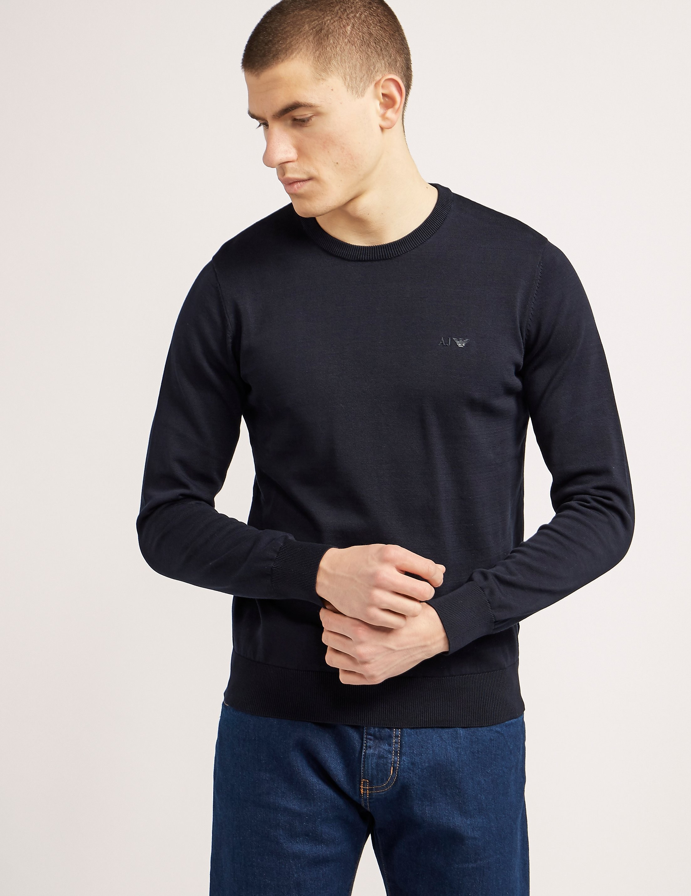 Armani Jeans Basic Crew Knit