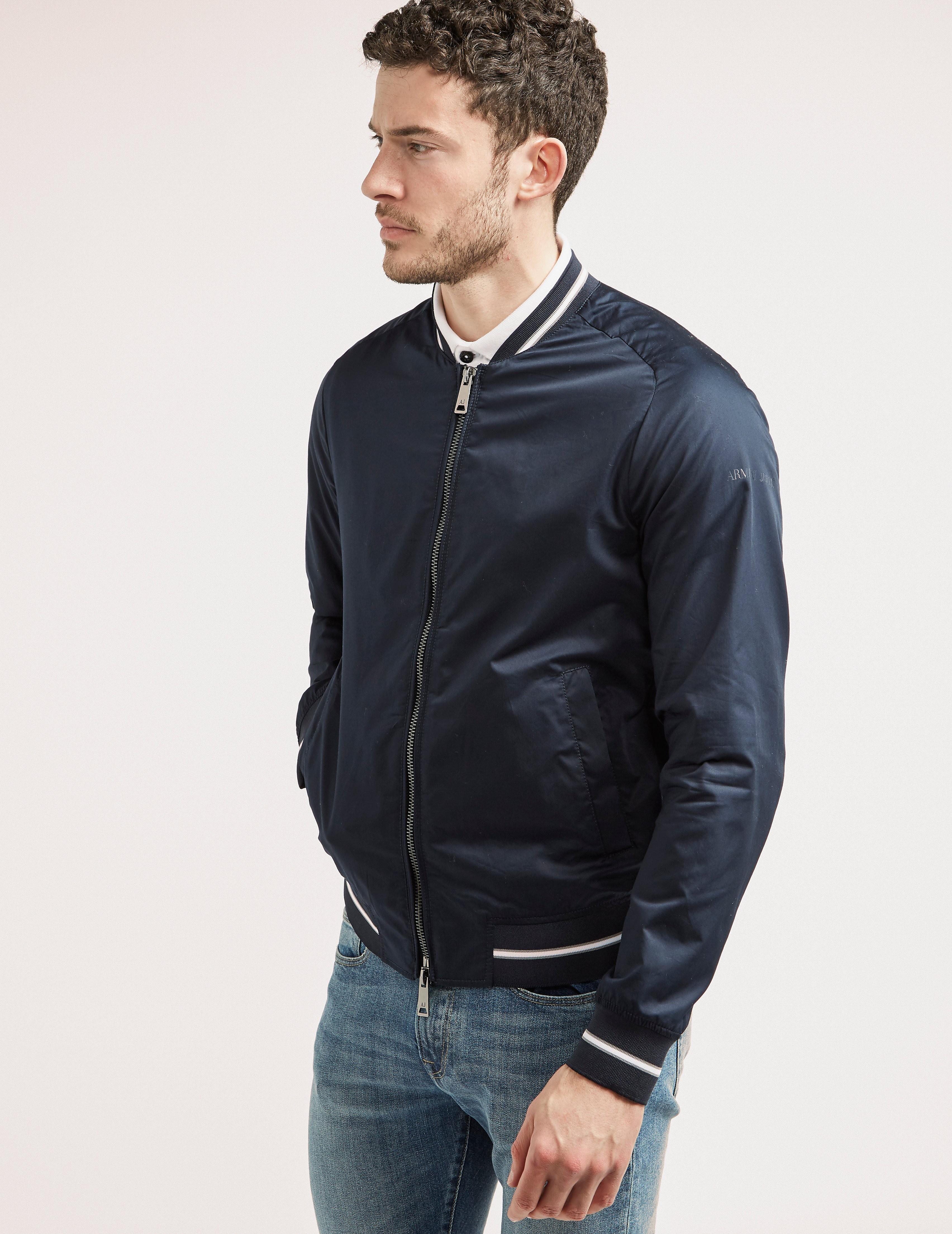 Armani Jeans Back Logo Bomber Jacket