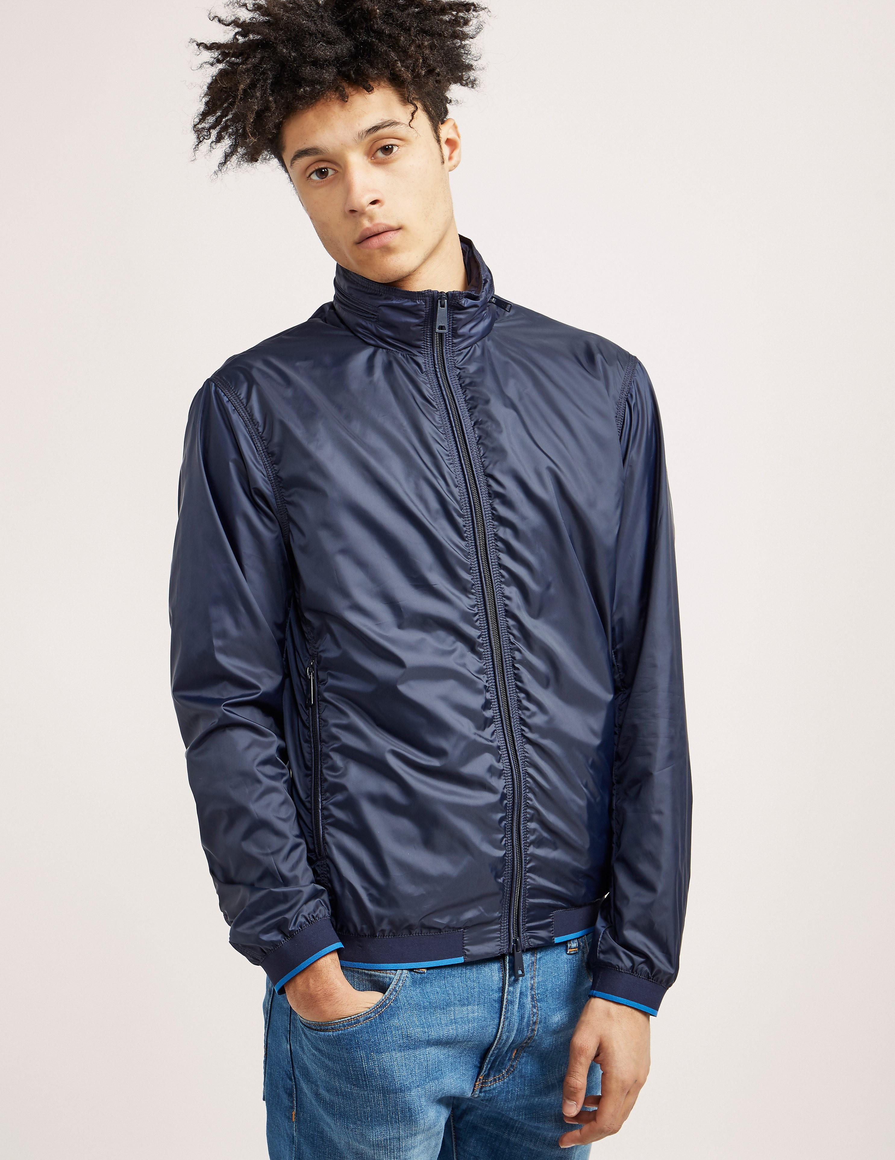Armani Jeans NYLON FUNNEL NECK JACKET