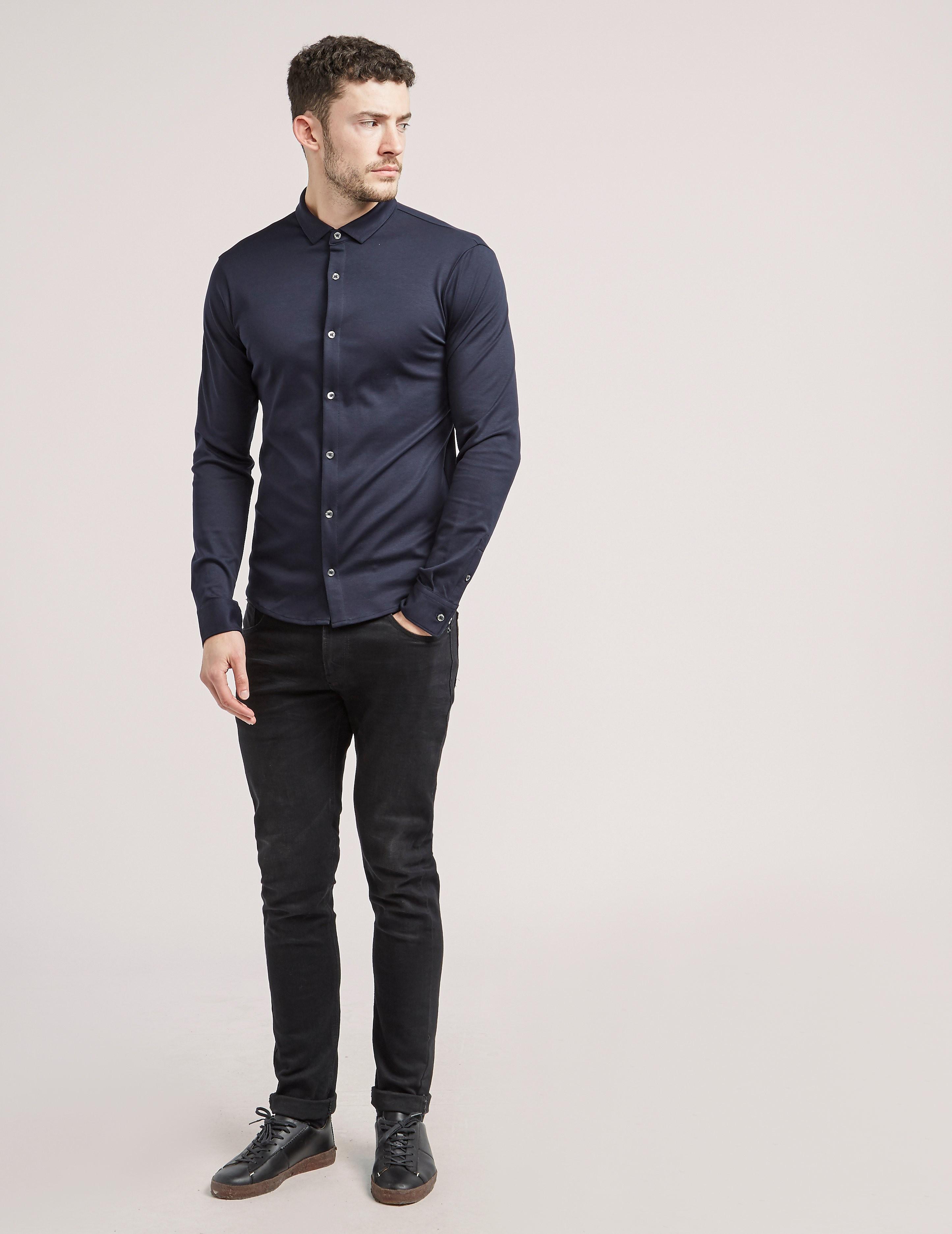 Armani Jeans Slim Fit Mercerised Shirt