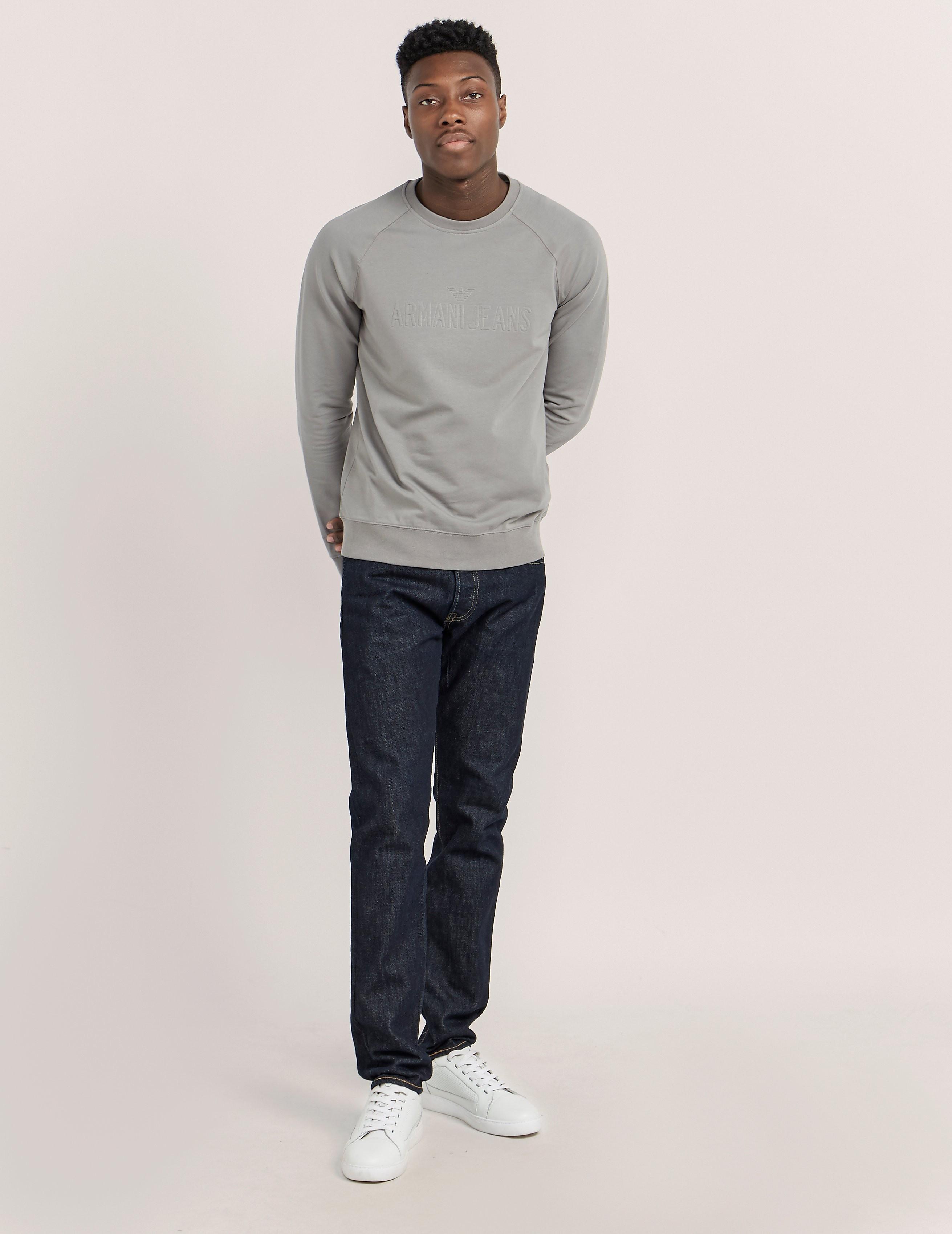 Armani Jeans Embossed Logo Sweatshirt
