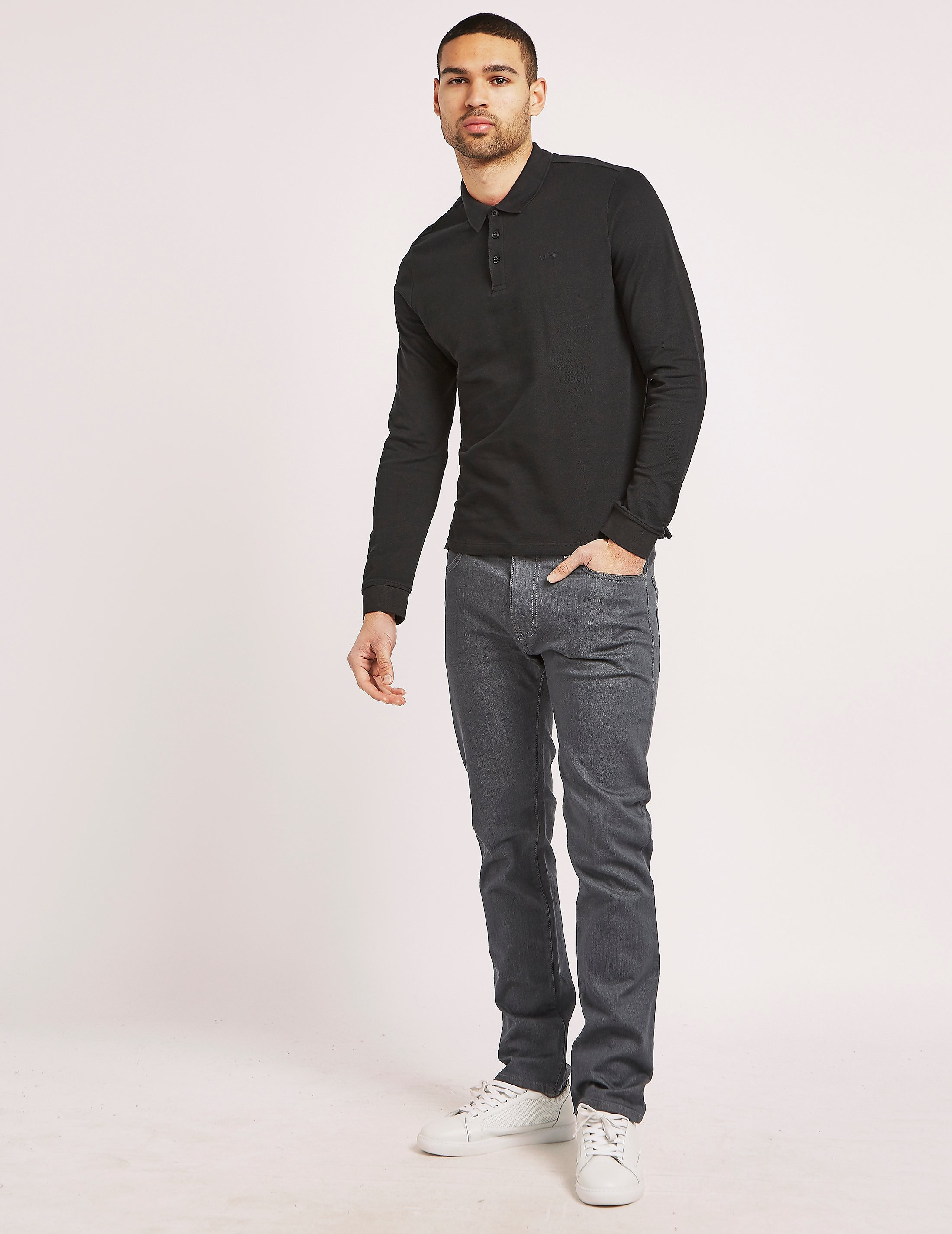 Armani Jeans Basic Long Sleeve Polo Shirt