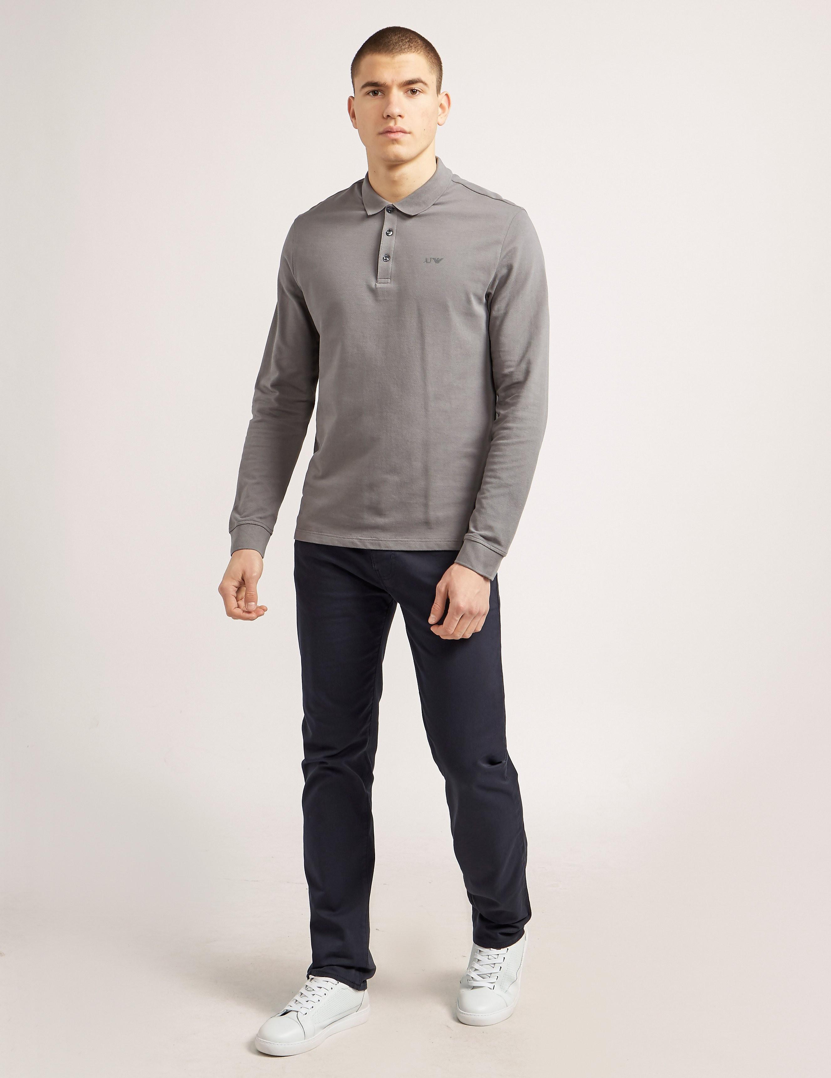 Armani Jeans Basic Long Sleeve Polo Shirt