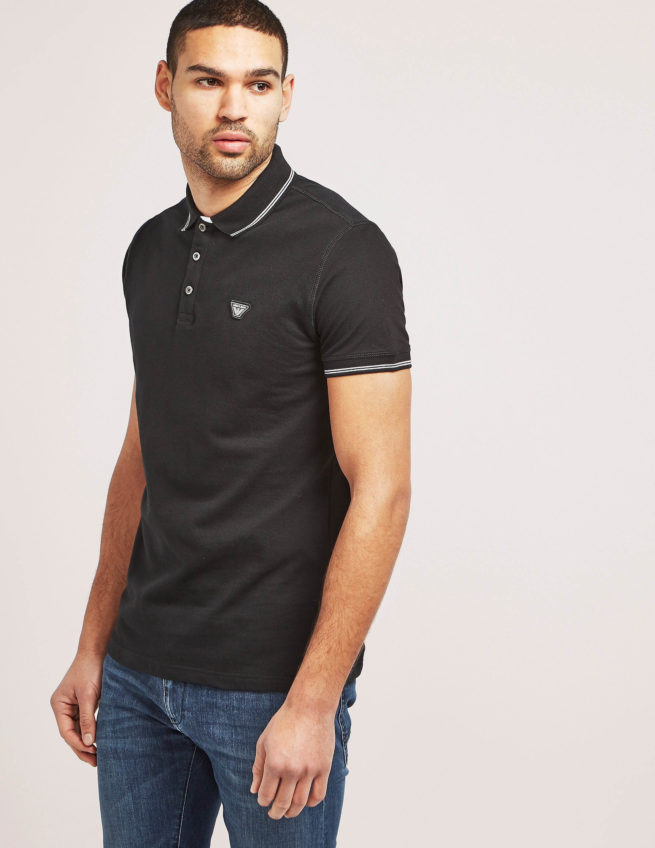 Armani Jeans Tipped Short Sleeve Polo Shirt