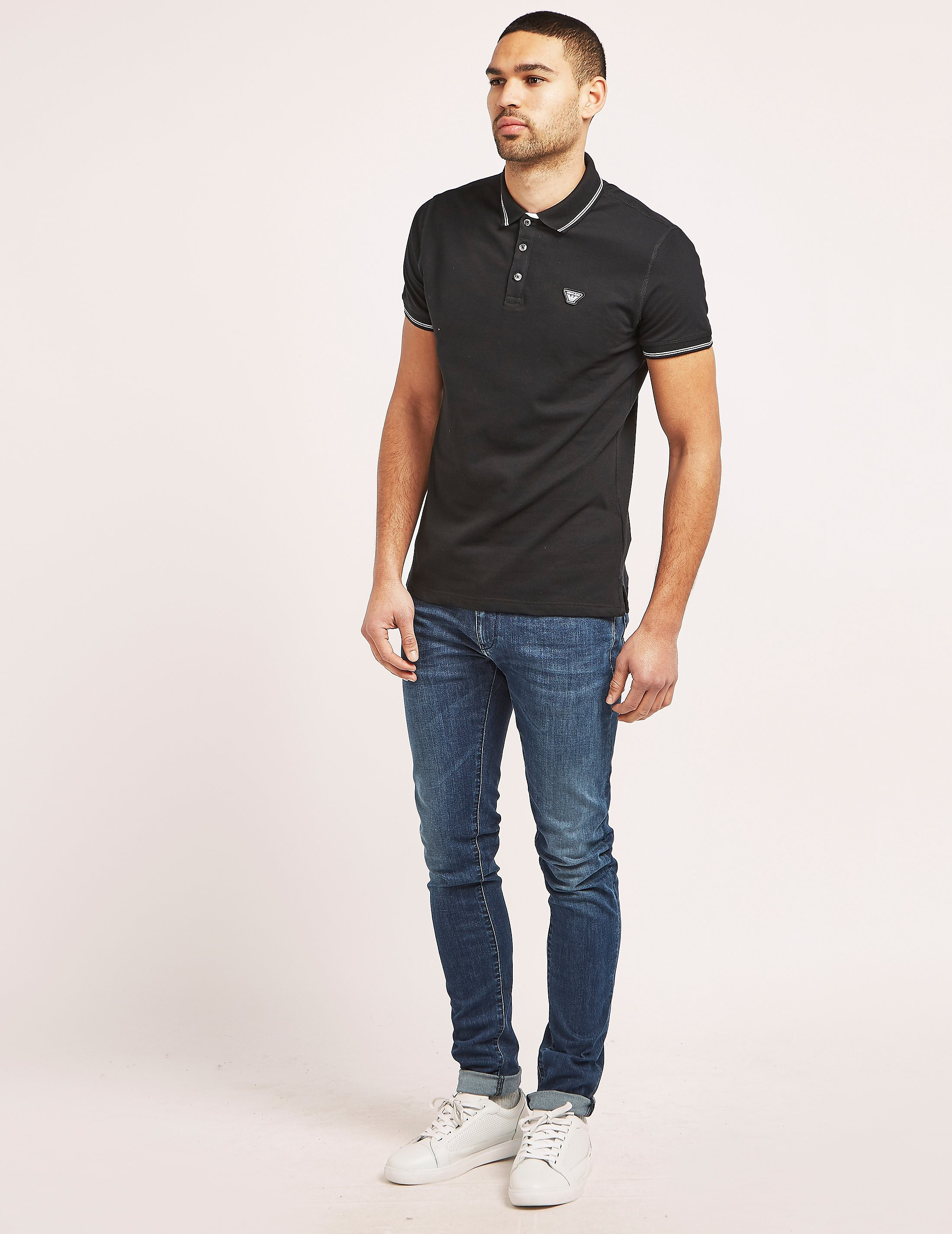 Armani Jeans Tipped Polo Shirt
