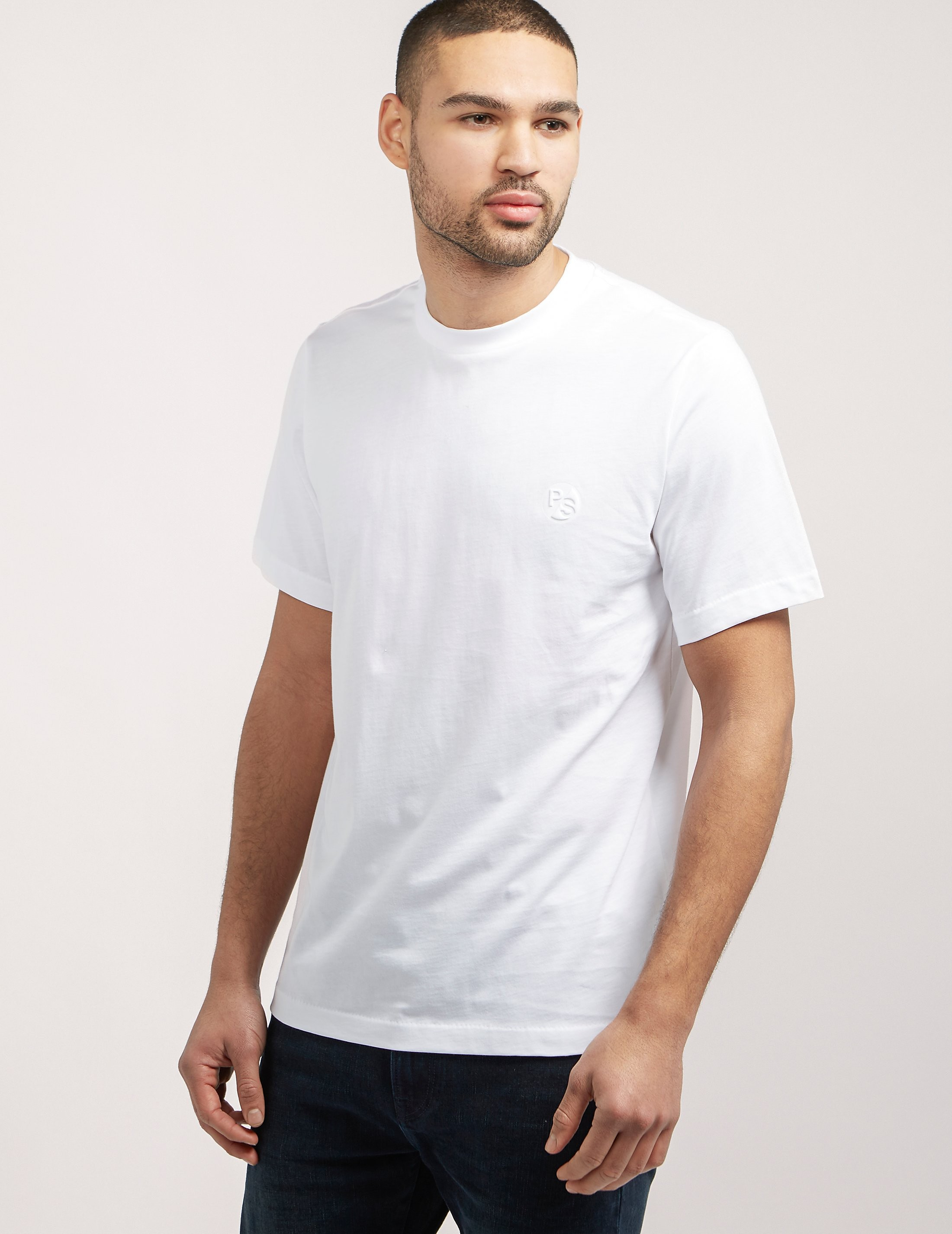 Paul Smith Embossed Logo Supima Short Sleeve T-Shirt