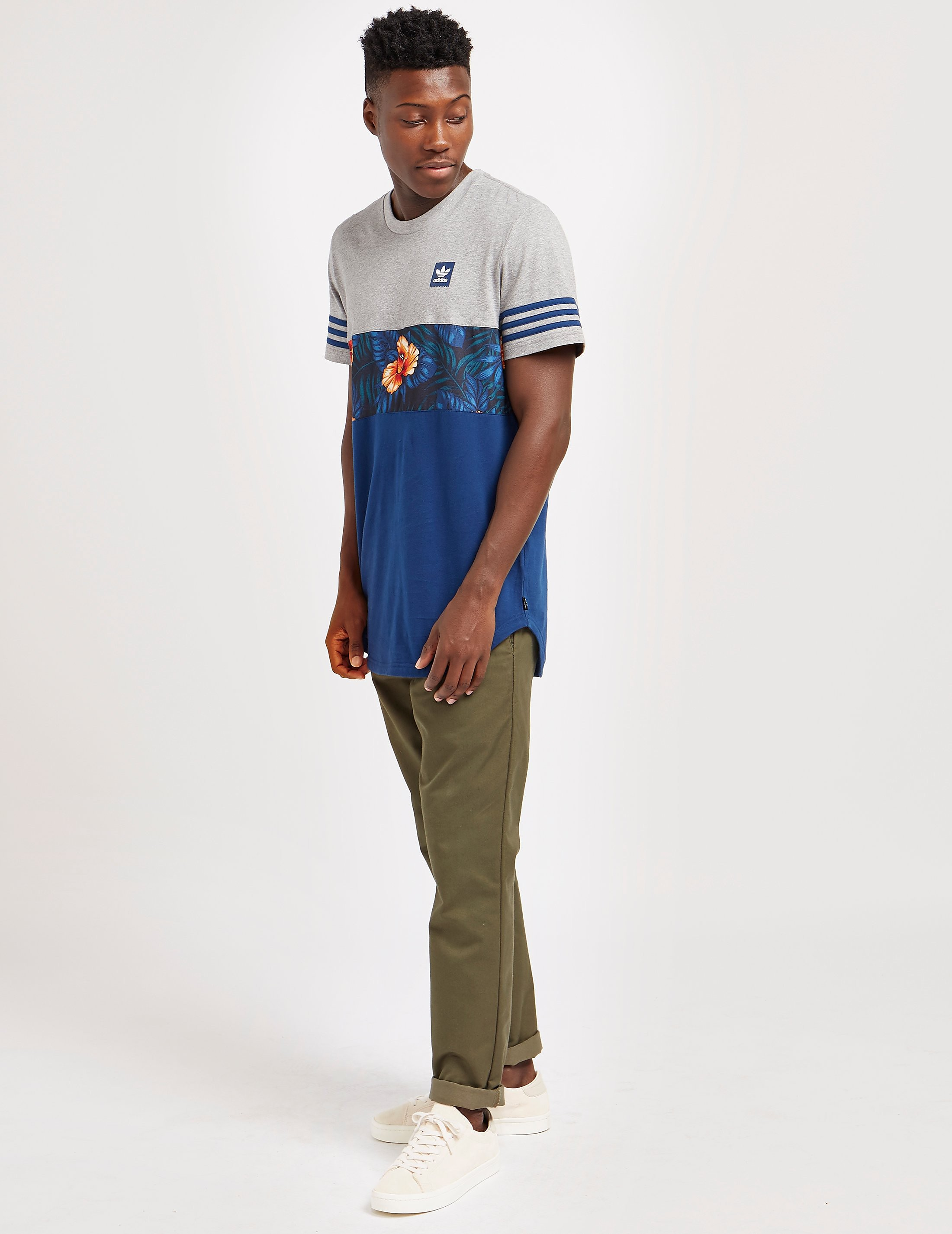 adidas Originals Leaf Block Stripe Short Sleeve T-Shirt