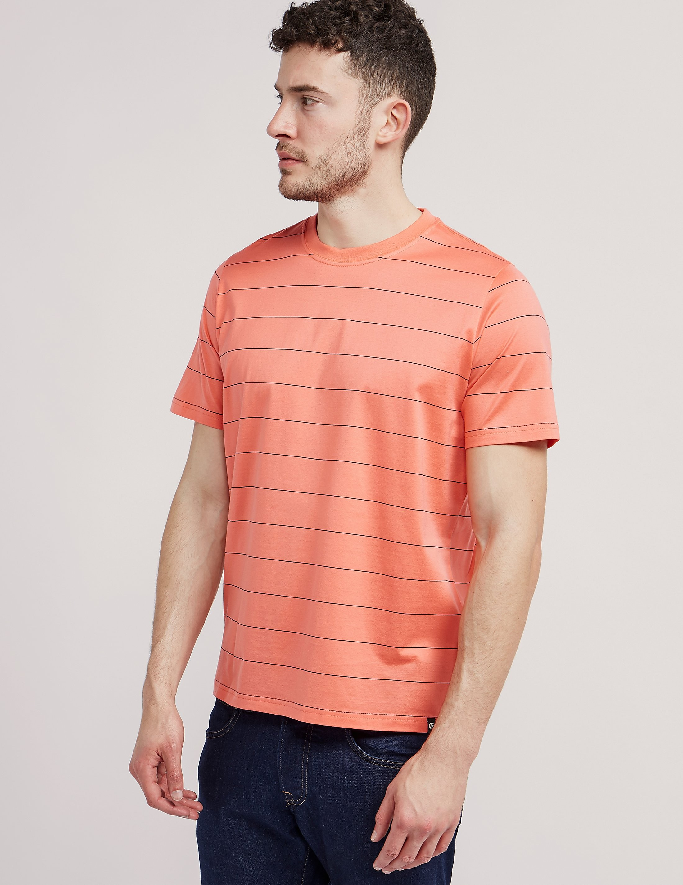 Paul Smith Pin Stripe Crew Short Sleeve T-Shirt