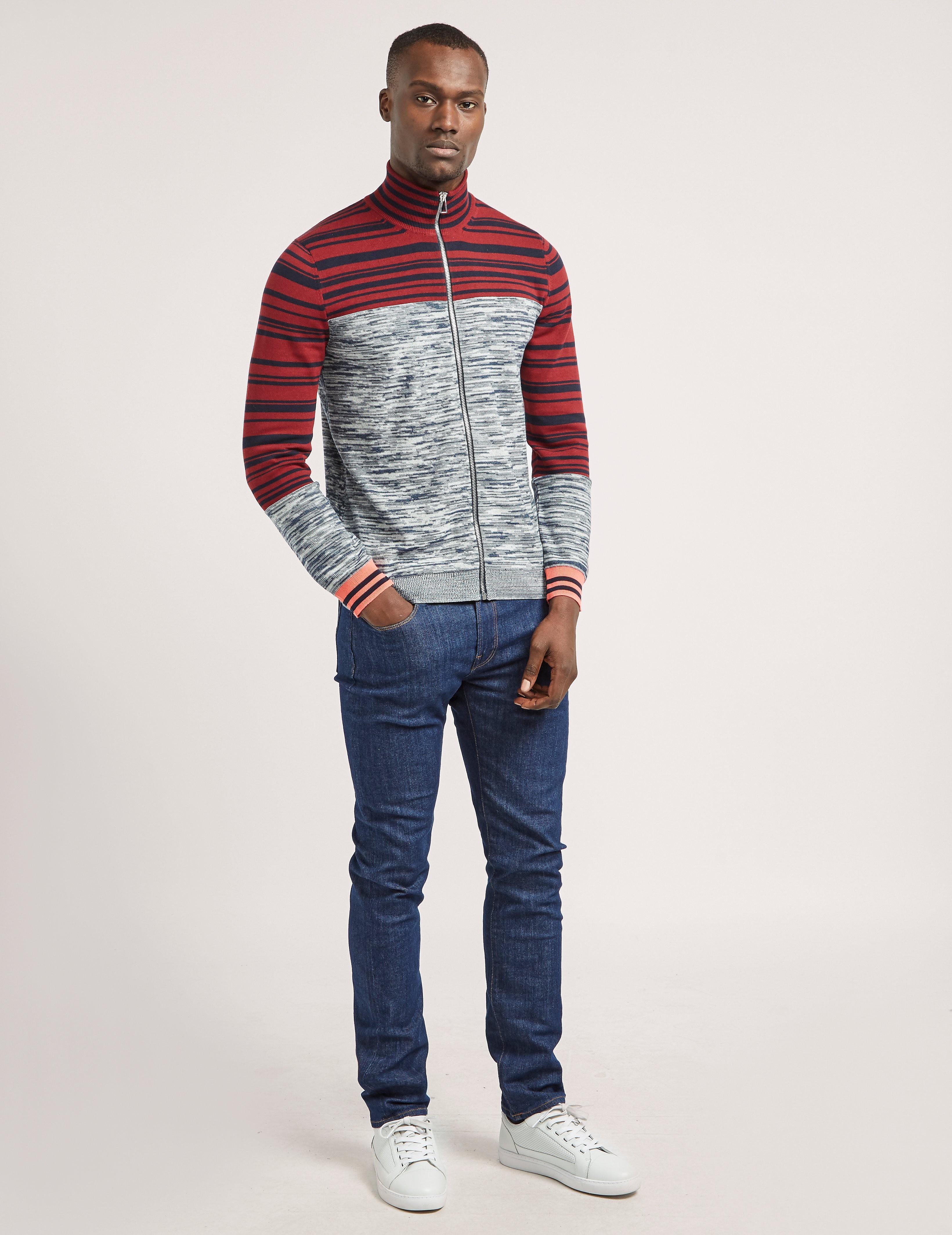 Paul Smith Stripe Full Zip Knit