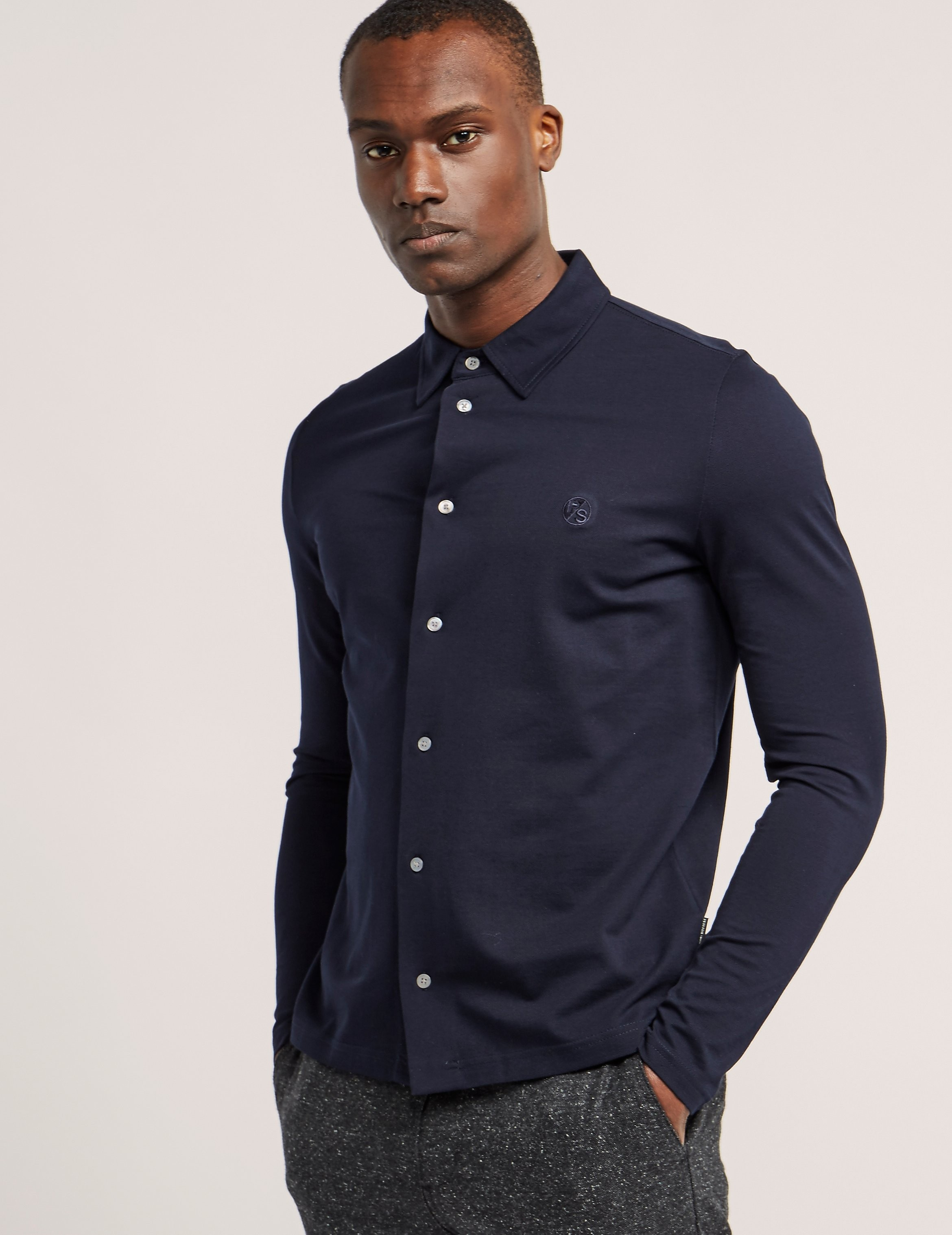 Paul Smith Pique Long Sleeve Shirt