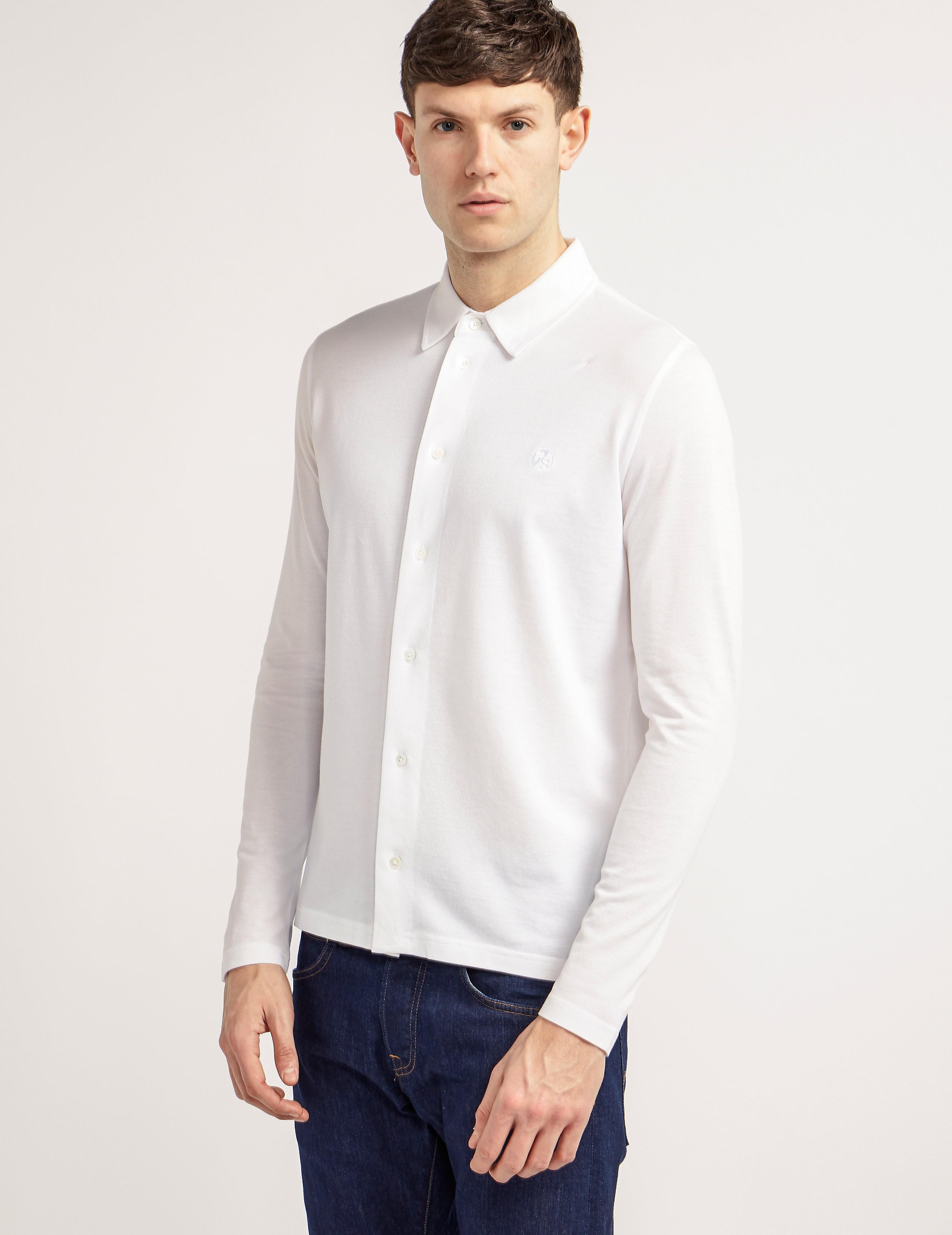 Paul Smith Pique Long Sleeve Shirt
