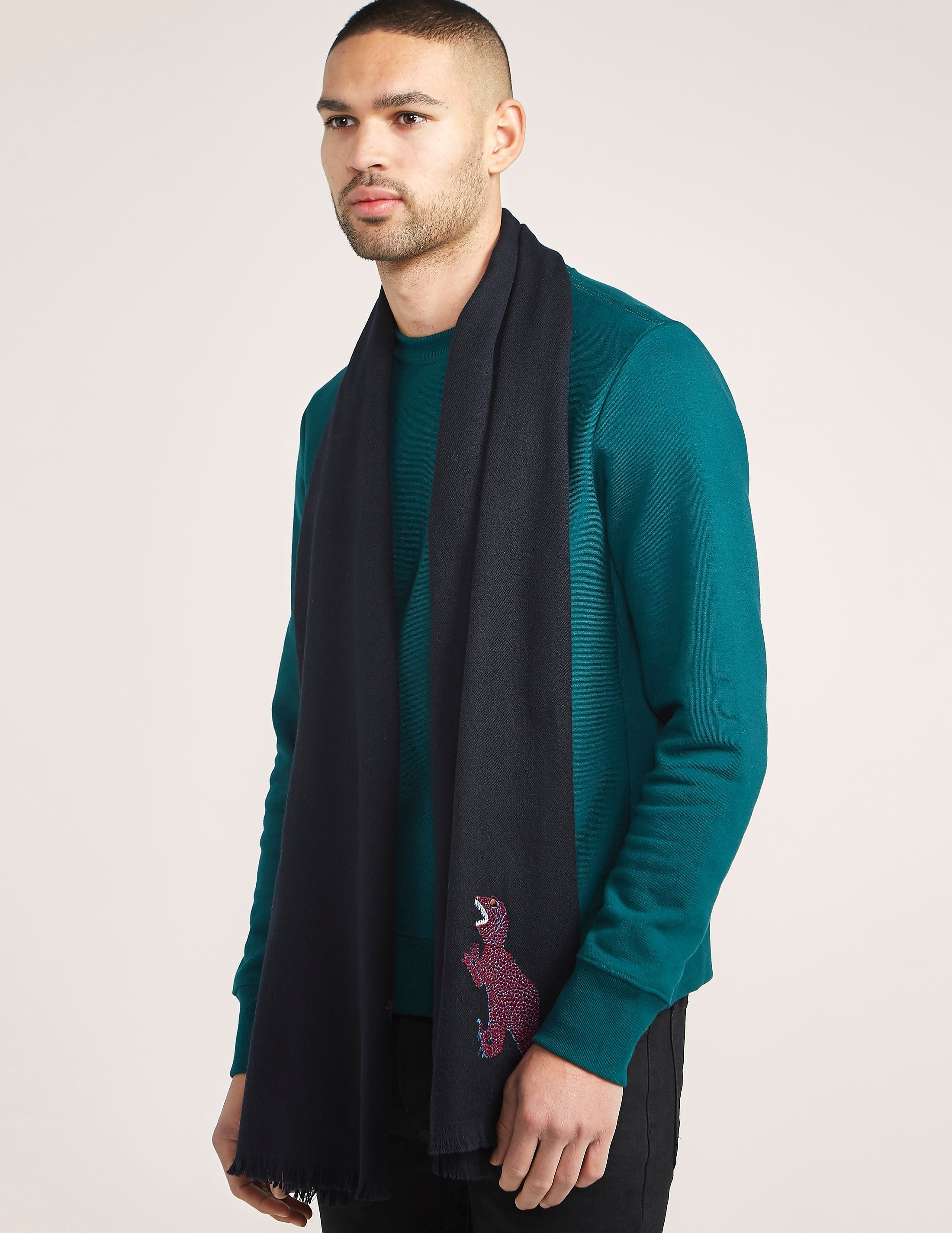 Paul Smith Embroidered Dinosaur Scarf