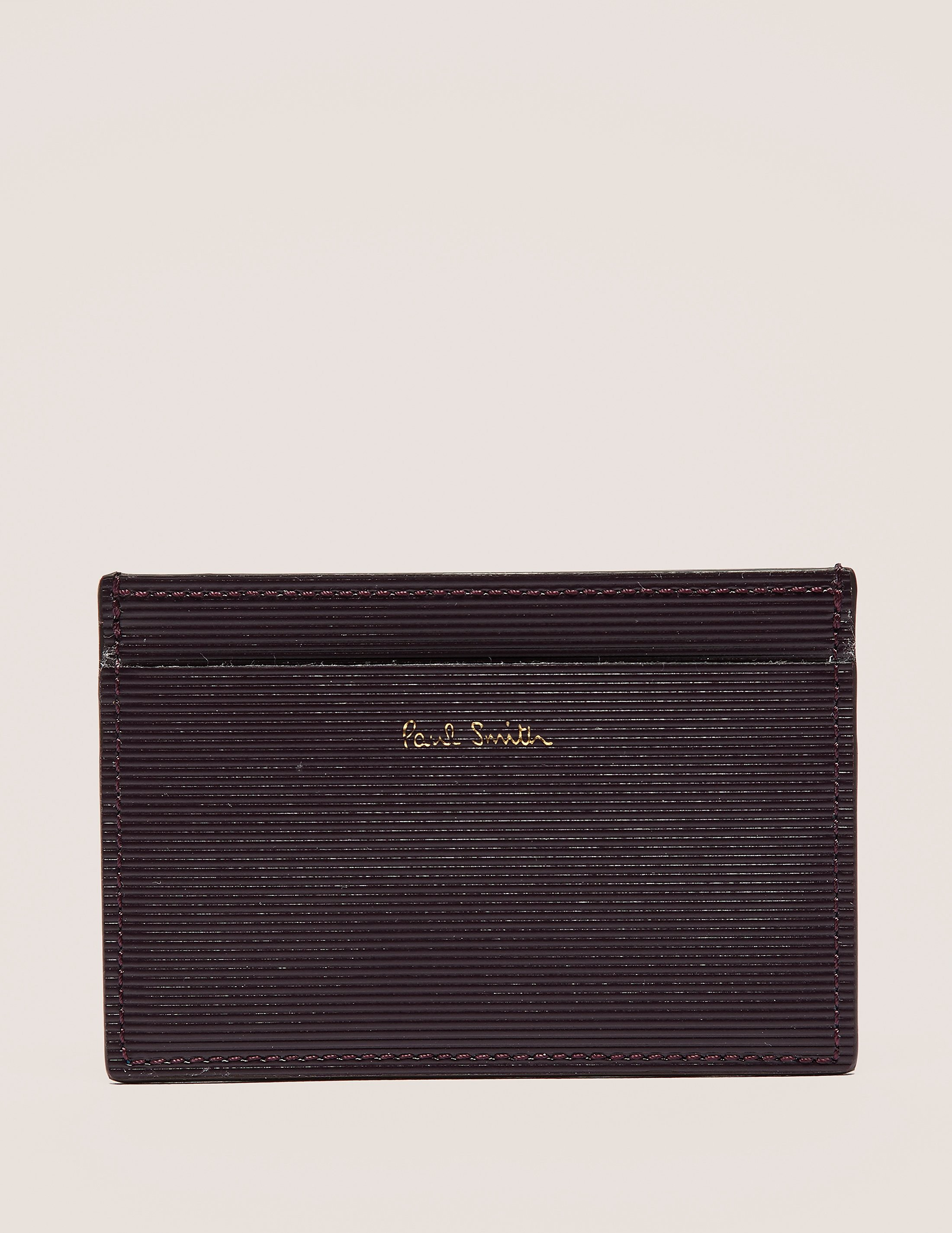 Paul Smith Stripe Embossed Credit Card Holder