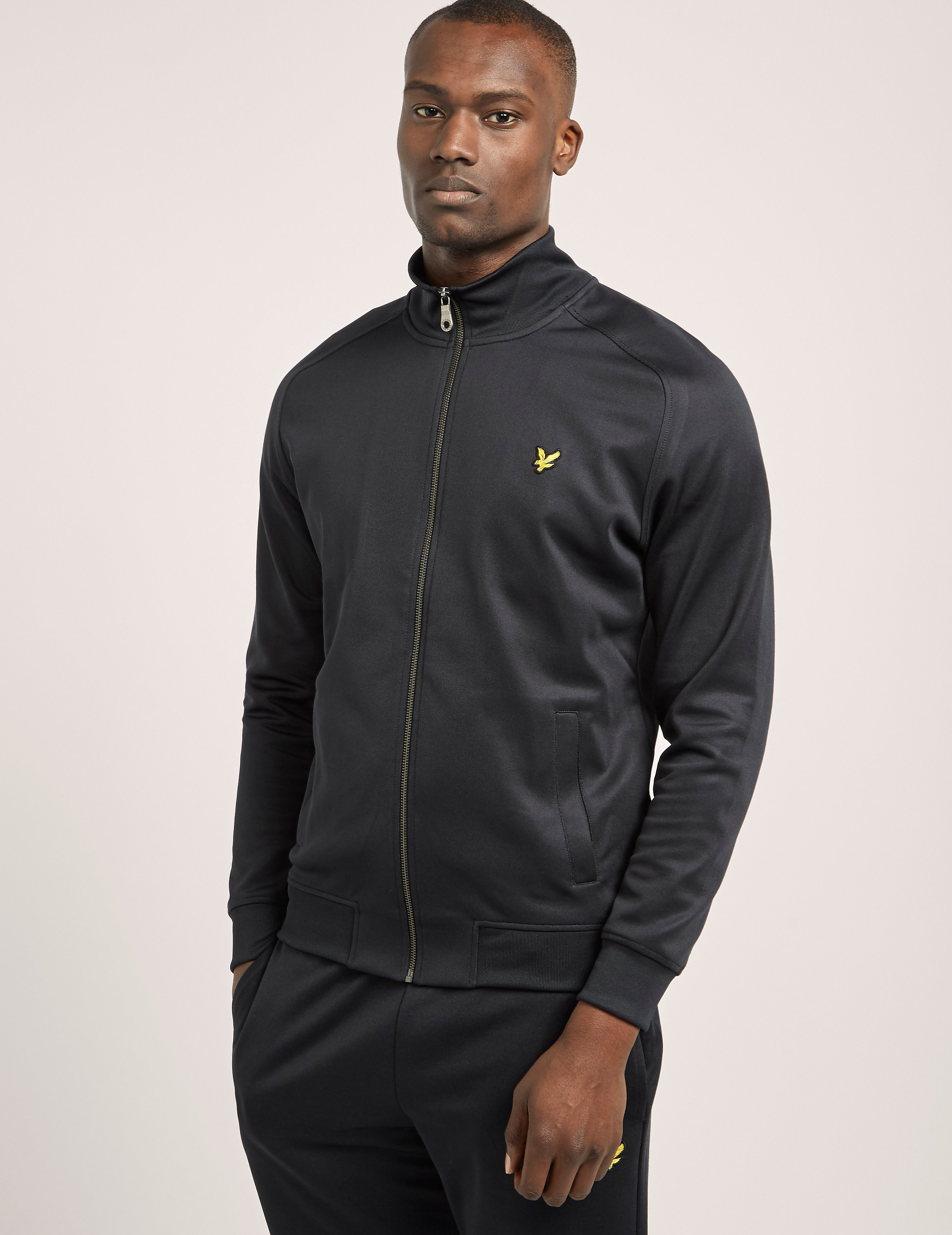 Lyle & Scott Tricot Funnel Neck Track Top