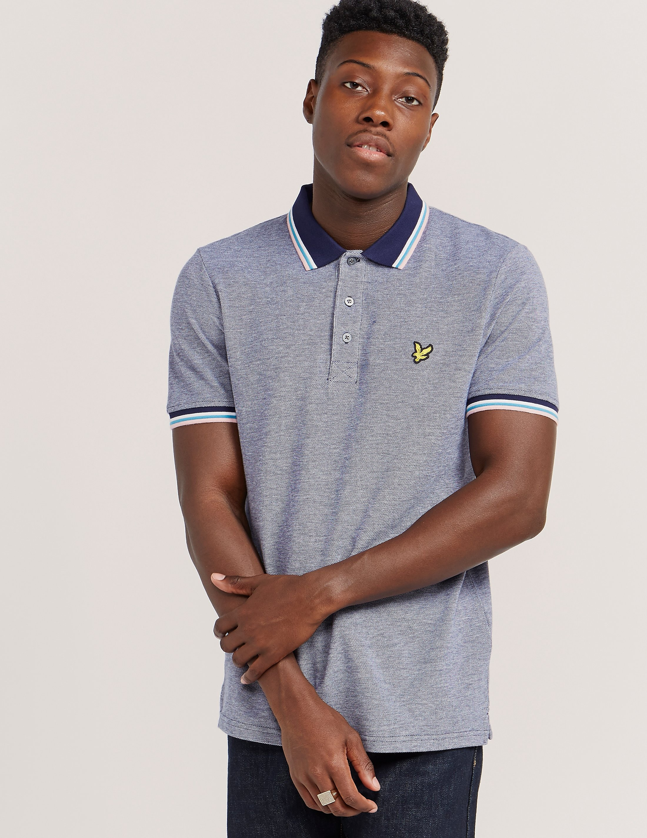 Lyle & Scott Tipped Short Sleeve Polo Shirt
