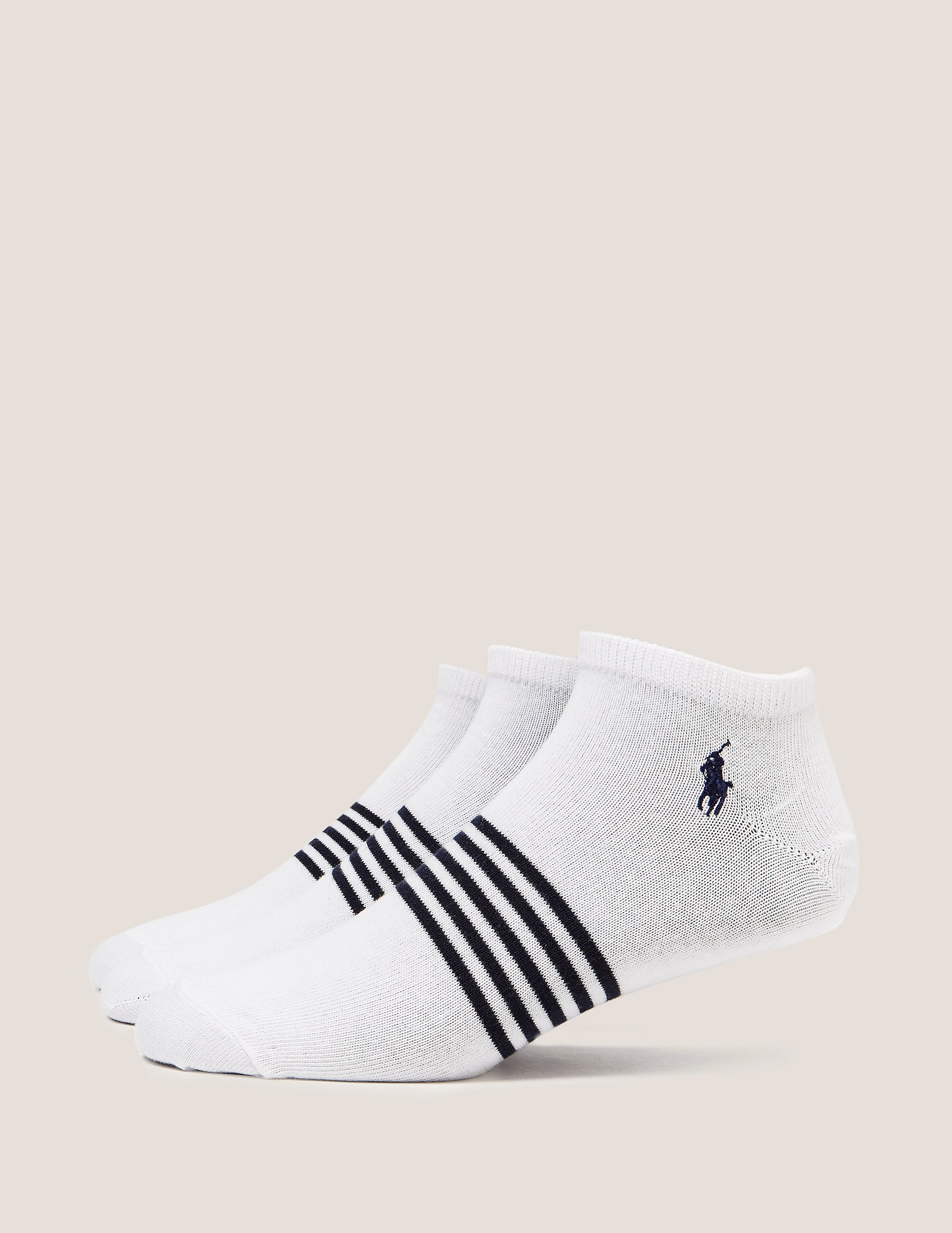 Polo Ralph Lauren 3-Pack Striped Trainer Socks
