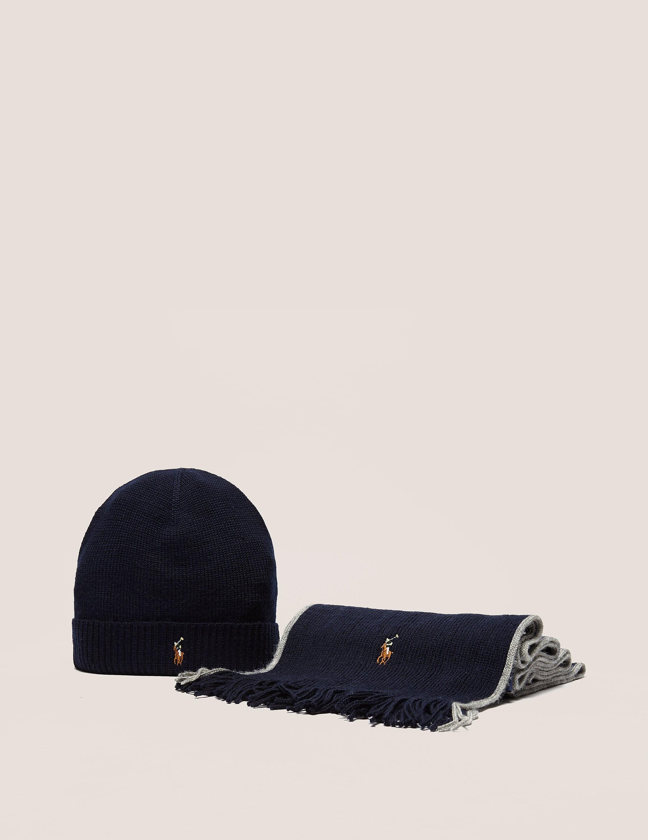 Polo Ralph Lauren Merino Scarf & Hat Gift Set