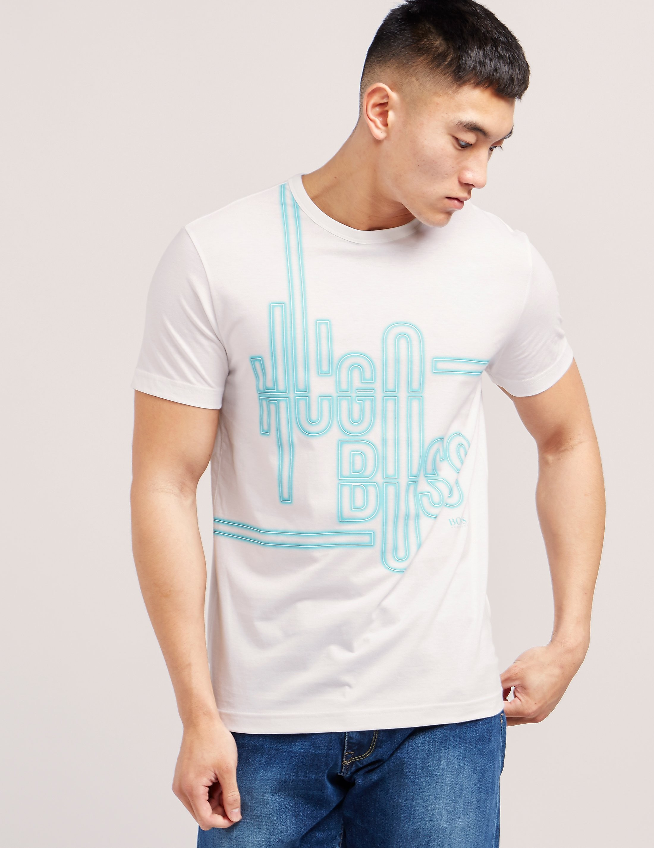 BOSS Green Neon Effect Short Sleeve T-Shirt