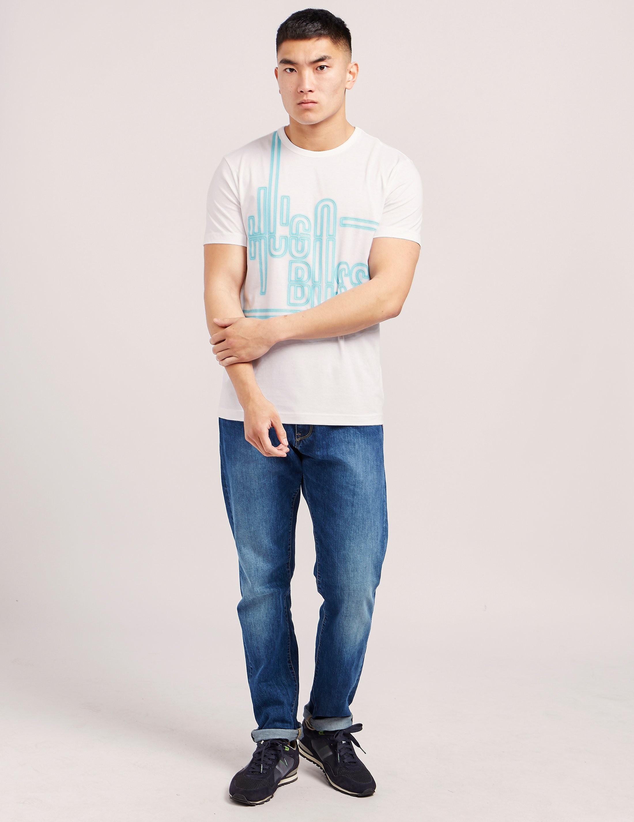 BOSS Green Neon Effect Short Sleeve T-Shirt