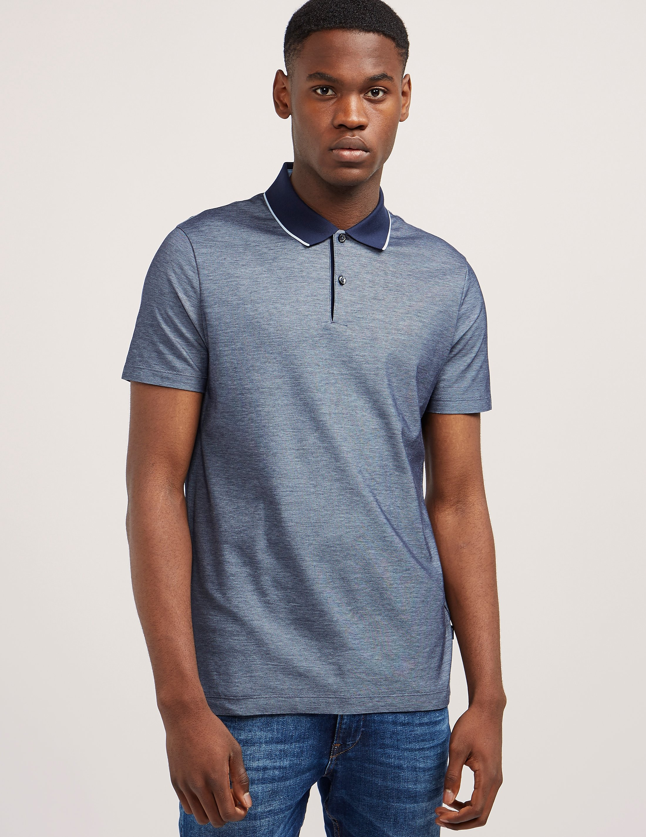 BOSS Two-Tone Short Sleeve Polo Shirt