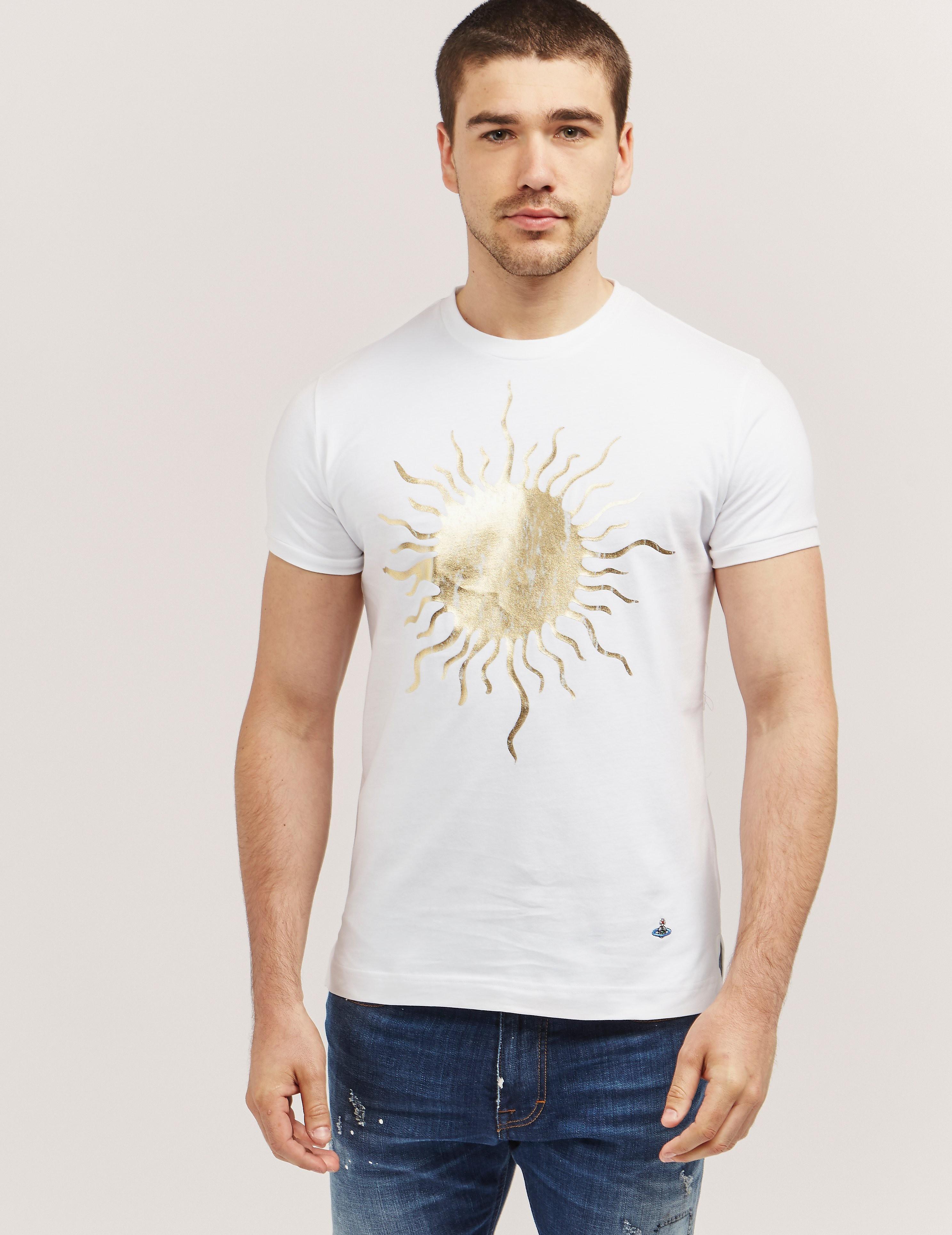 Vivienne Westwood Foil Print Sun Short Sleeve T-Shirt
