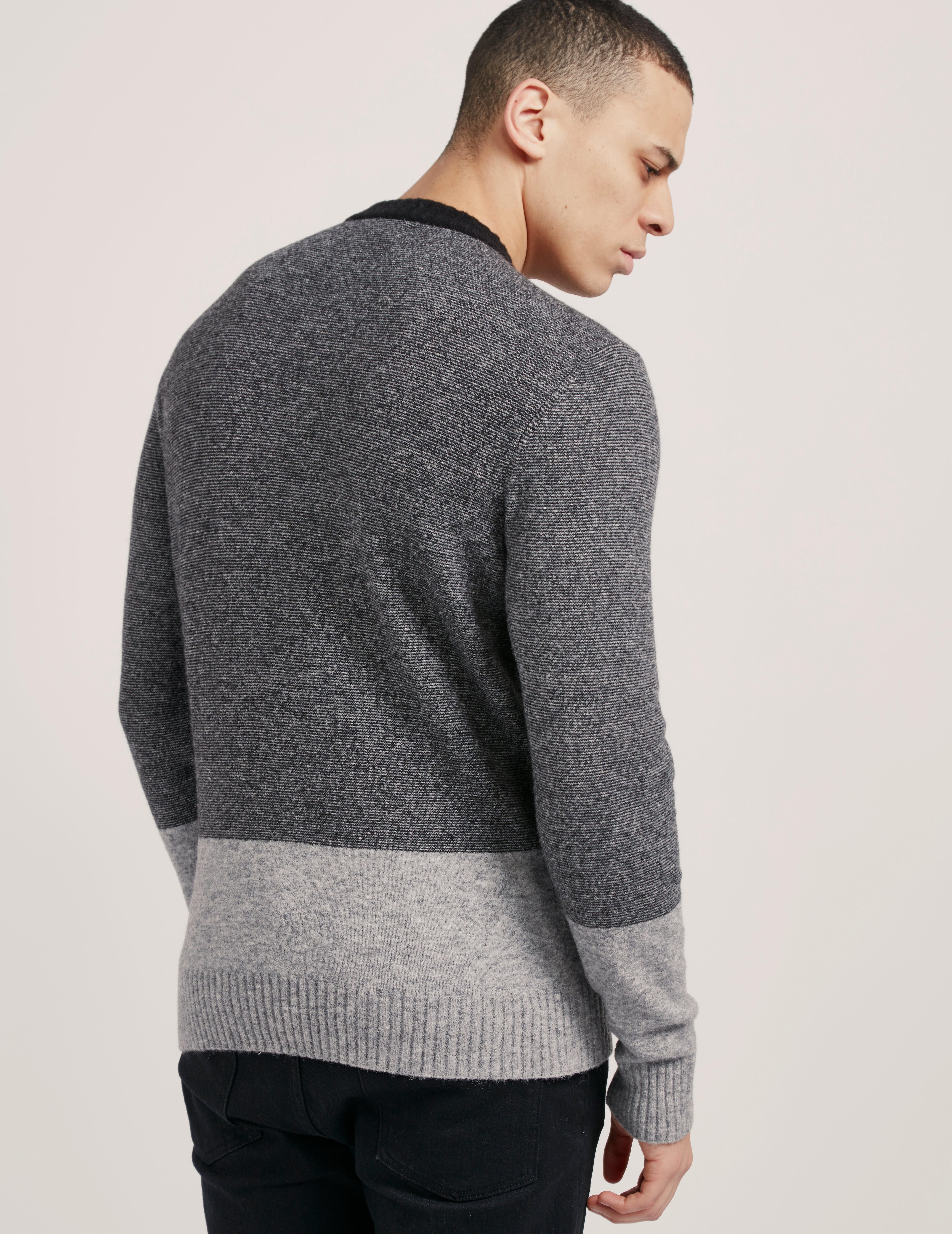 Stone Island Wool Panel Crew Knit