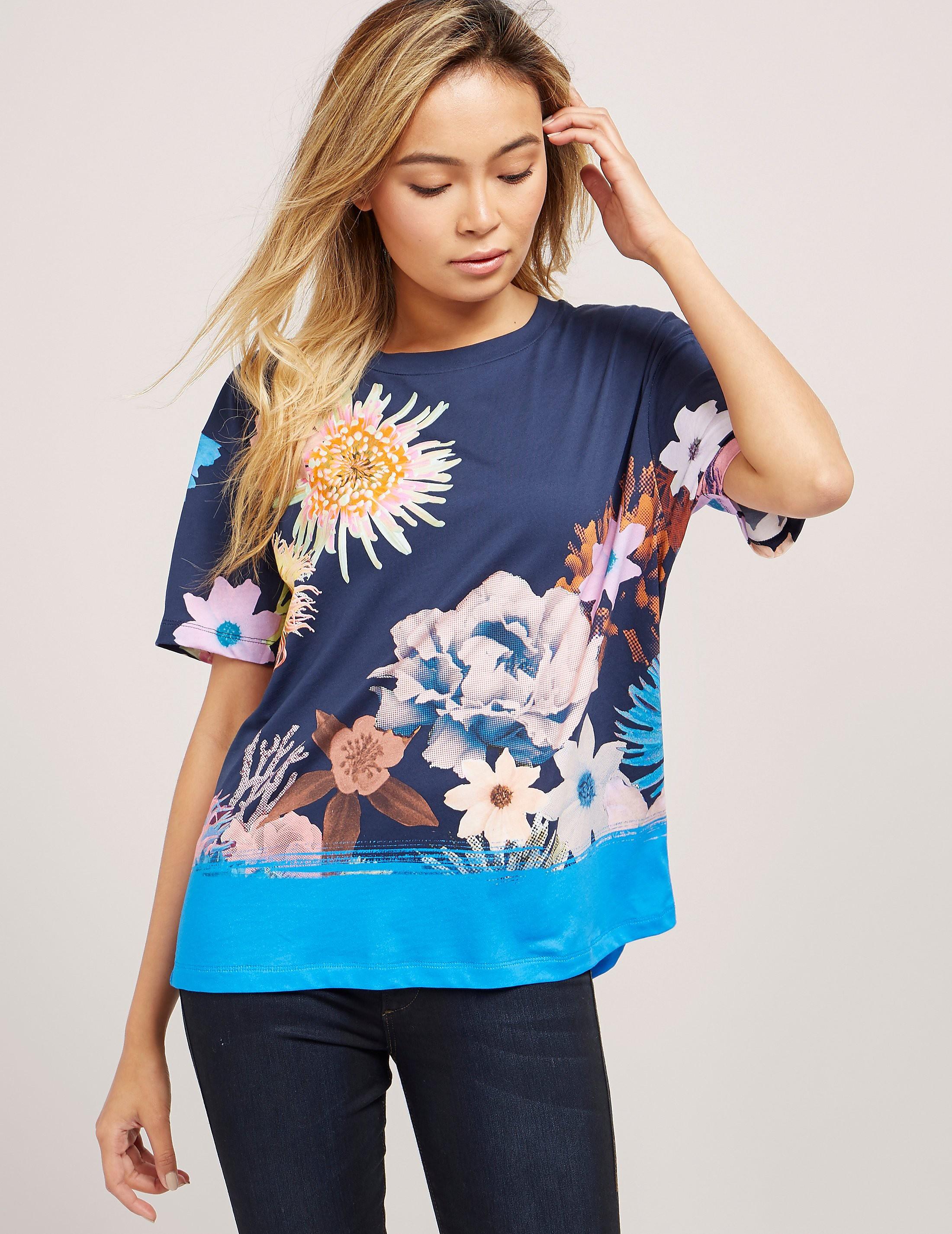 Paul Smith Ocean Floral Print T-Shirt